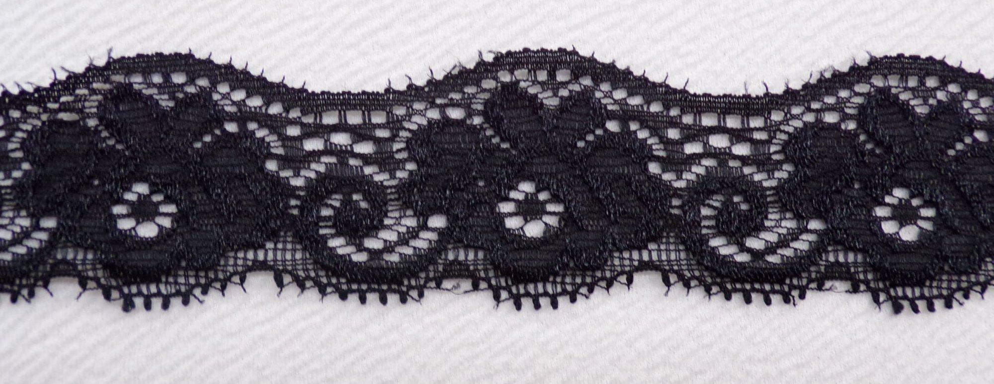 1 1/2in Black stretch lace (BSL346)