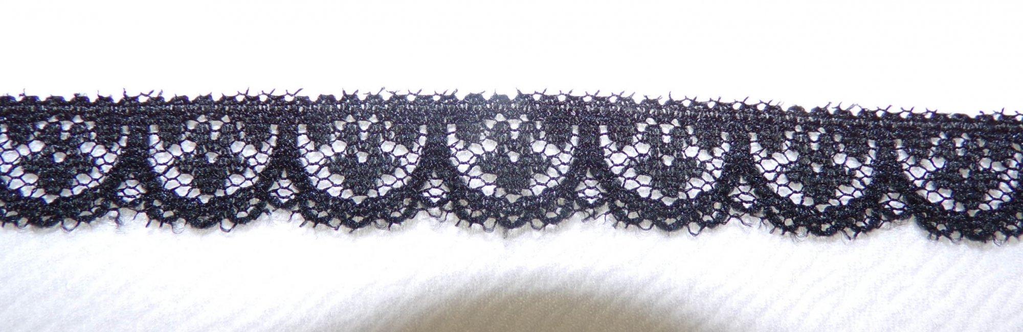 1/2 Black Rigid Lace (654461)