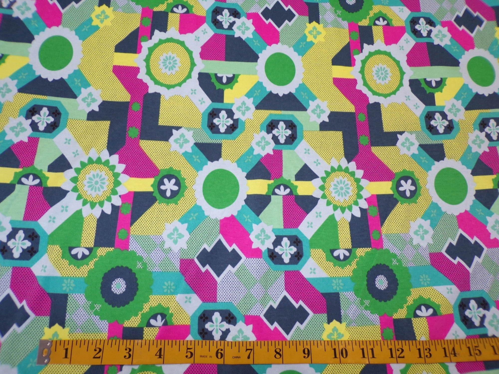 Cotton Interlock - Cross Roads by Amy Butler - Turquoise