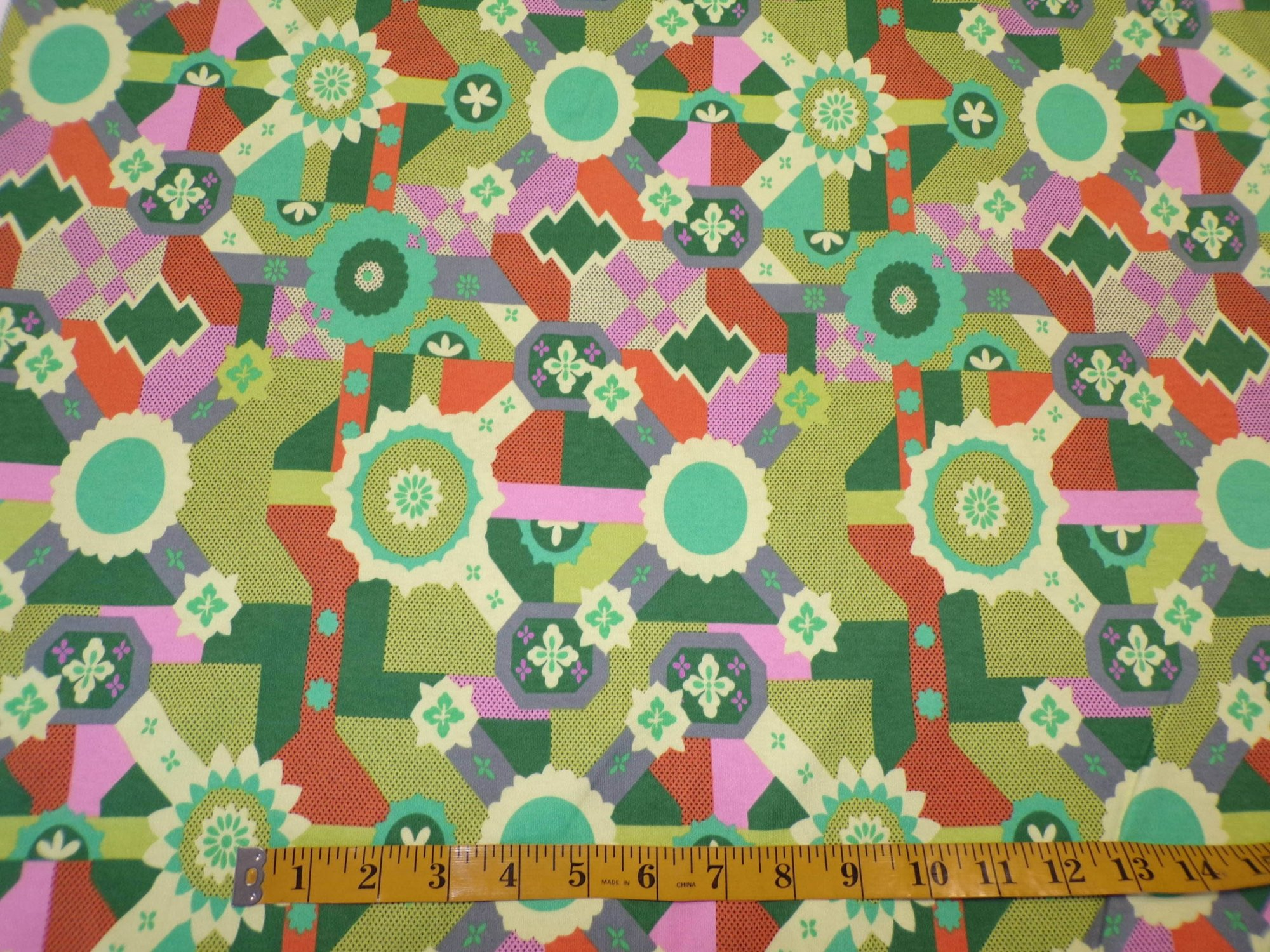 Cotton Interlock - Cross Roads by Amy Butler - Jade