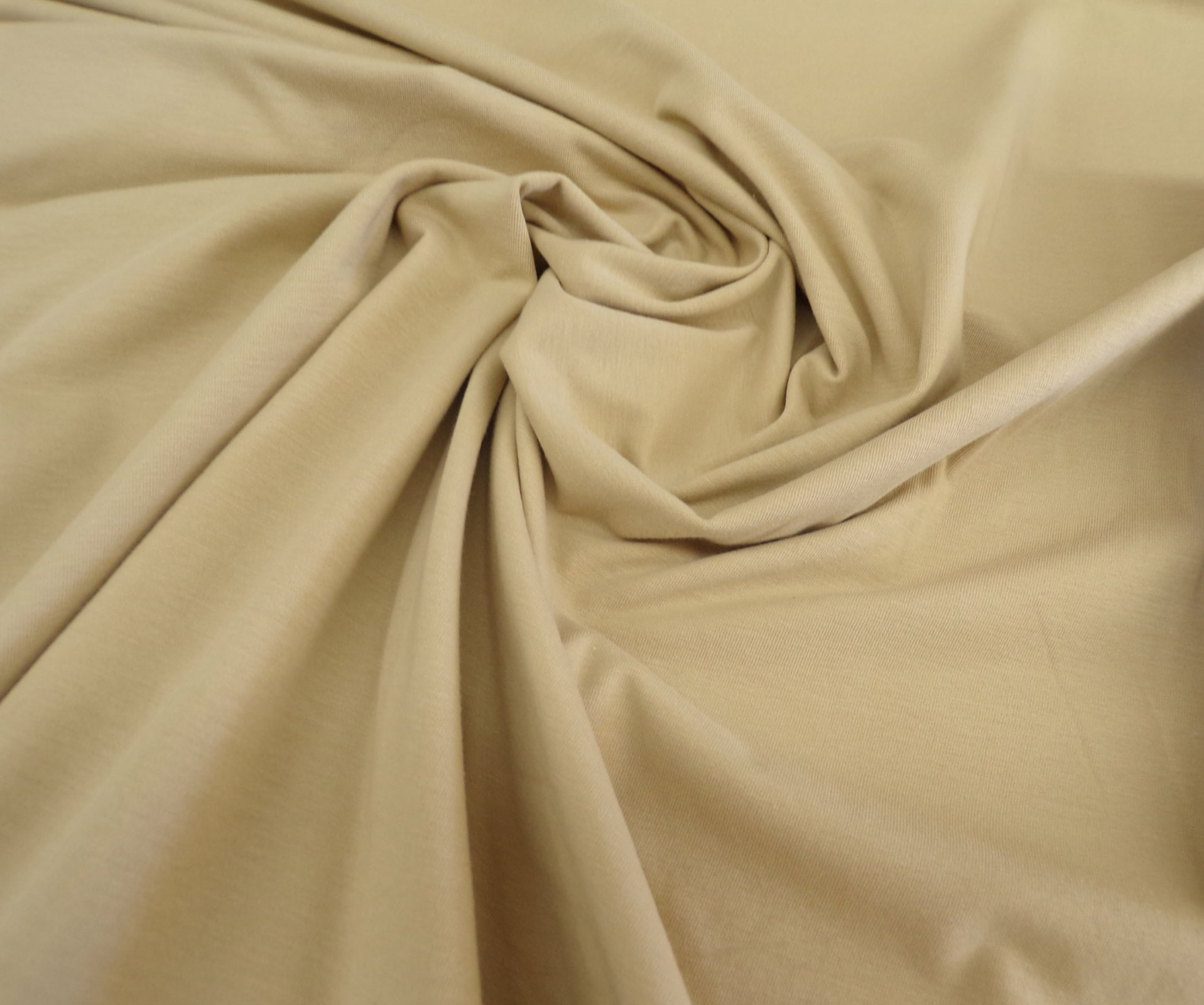 Cotton Lycra Jersey - Beige