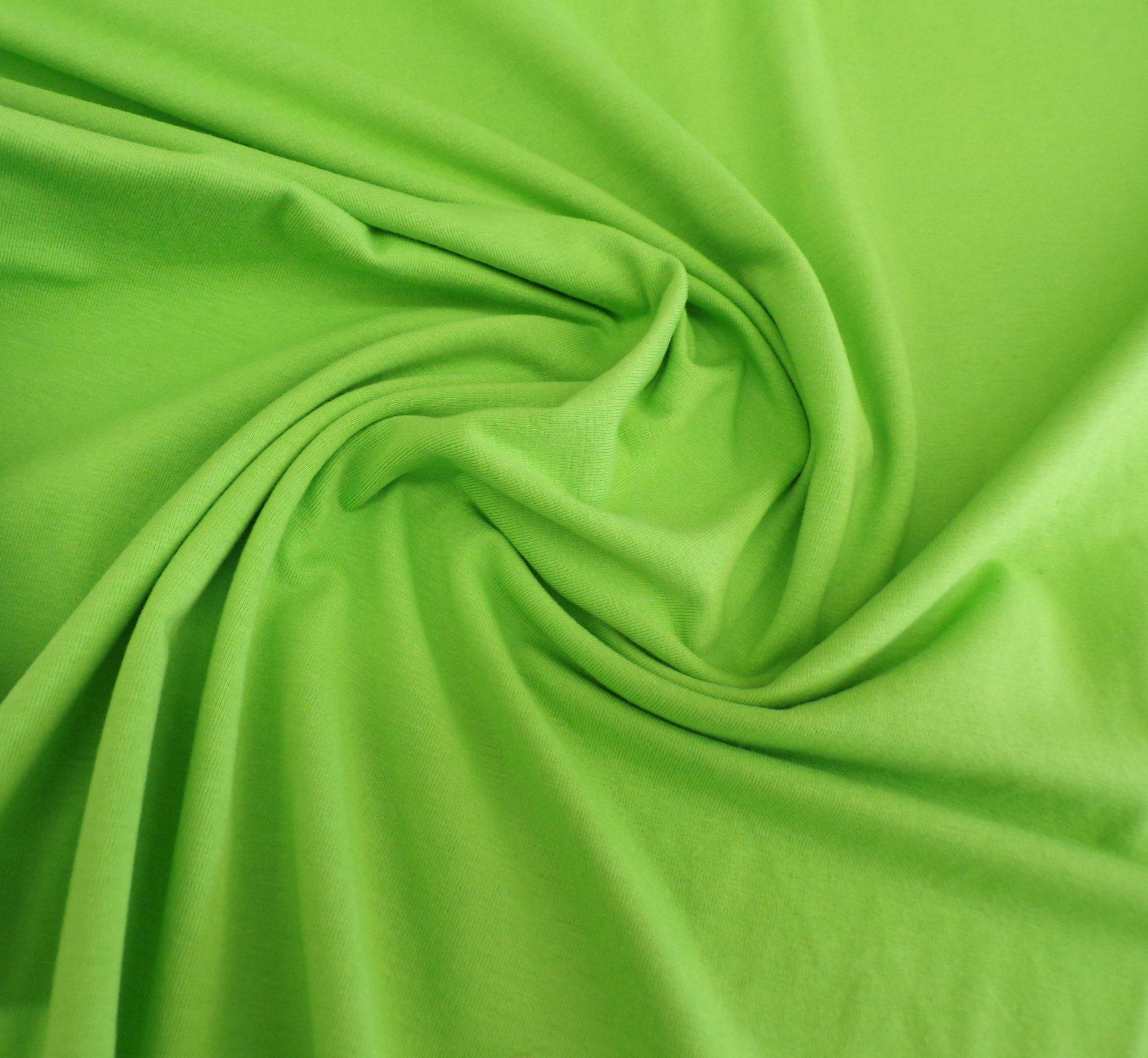 Cotton Lycra Jersey - Lime