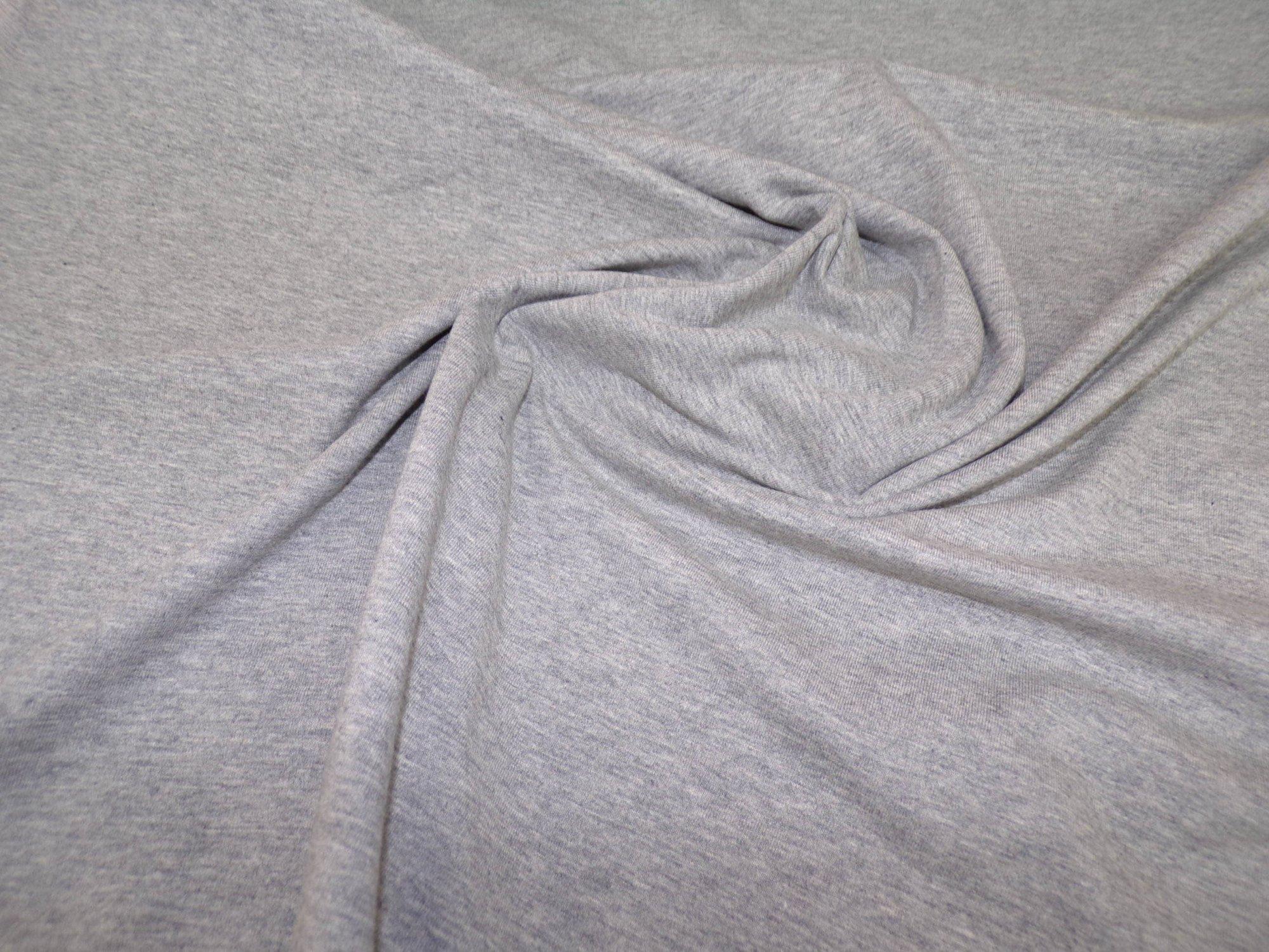 Cotton Lycra Jersey - Light Gray Heathered