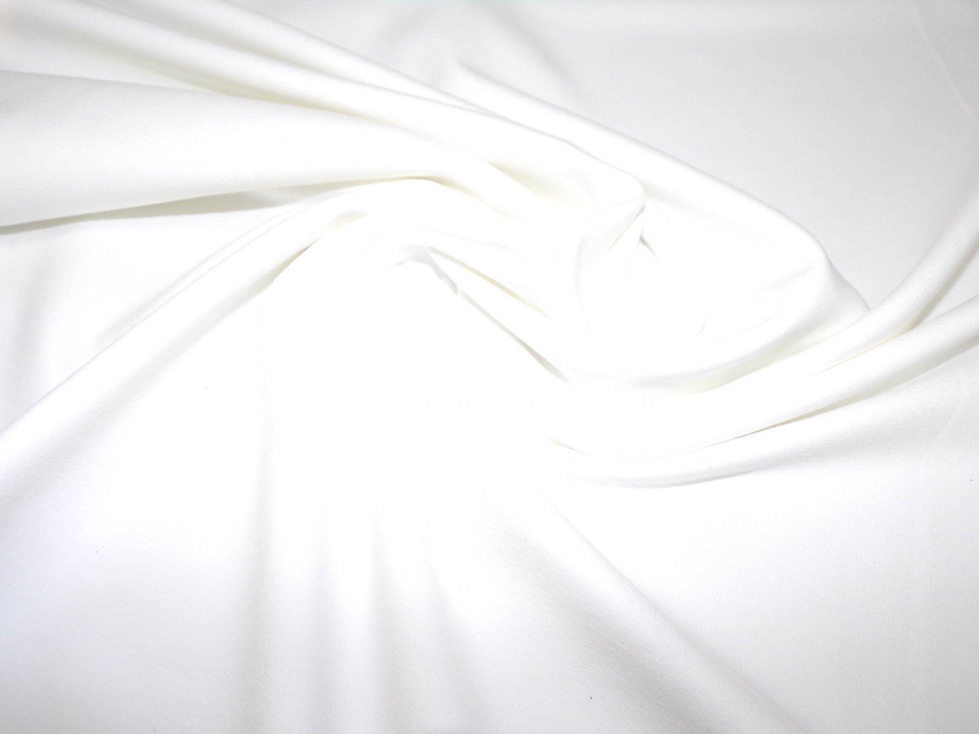 Lightweight Cotton Lycra Jersey - White