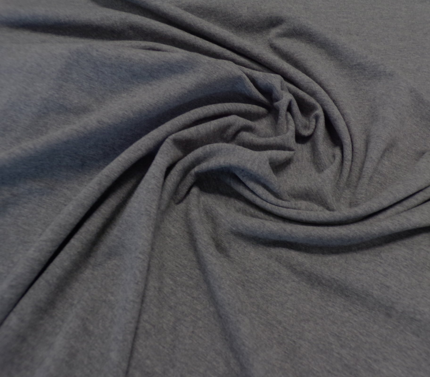 Cotton Lycra Jersey - Heathered Charcoal Gray