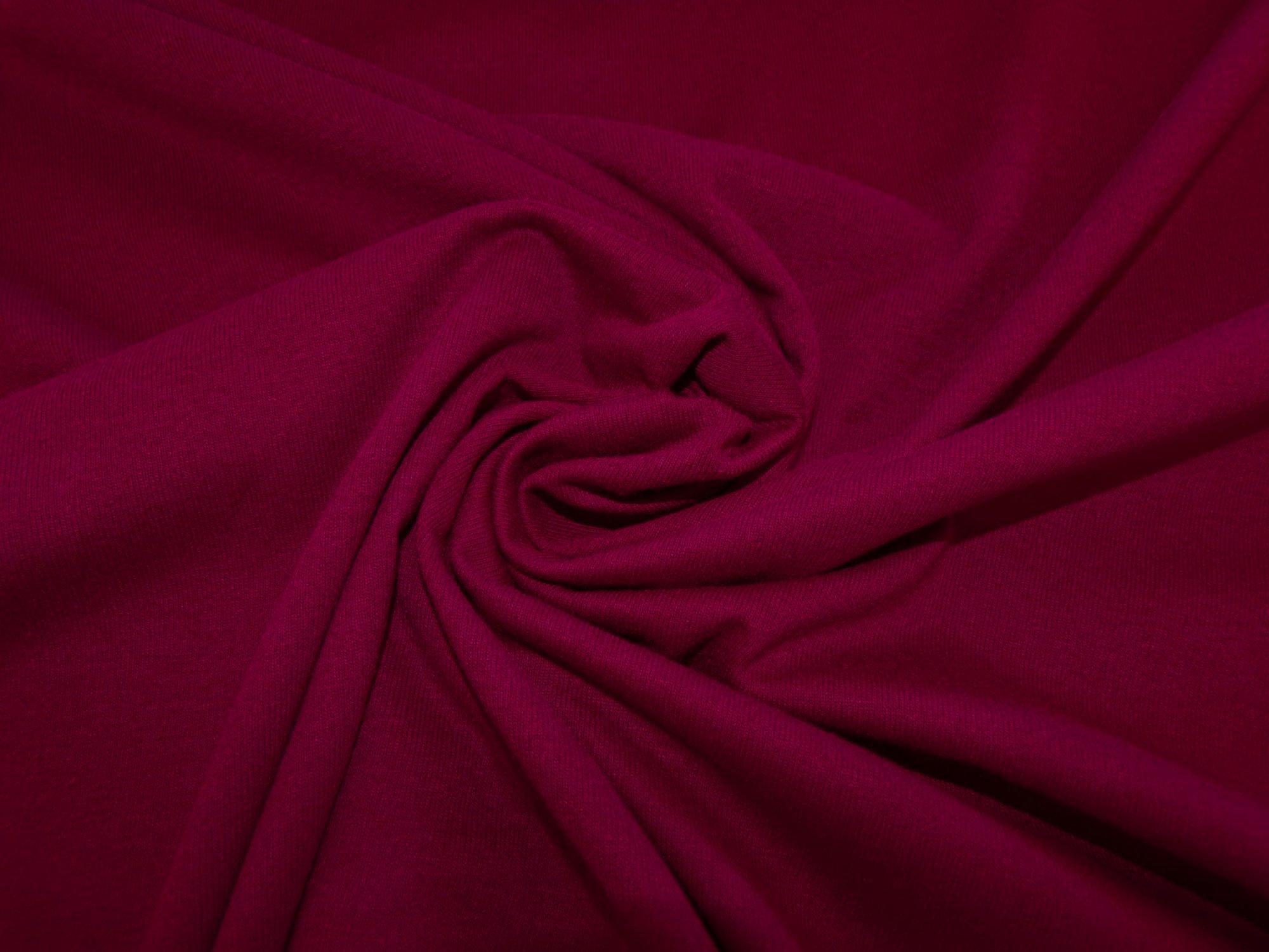 Cotton Lycra Jersey - Maroon