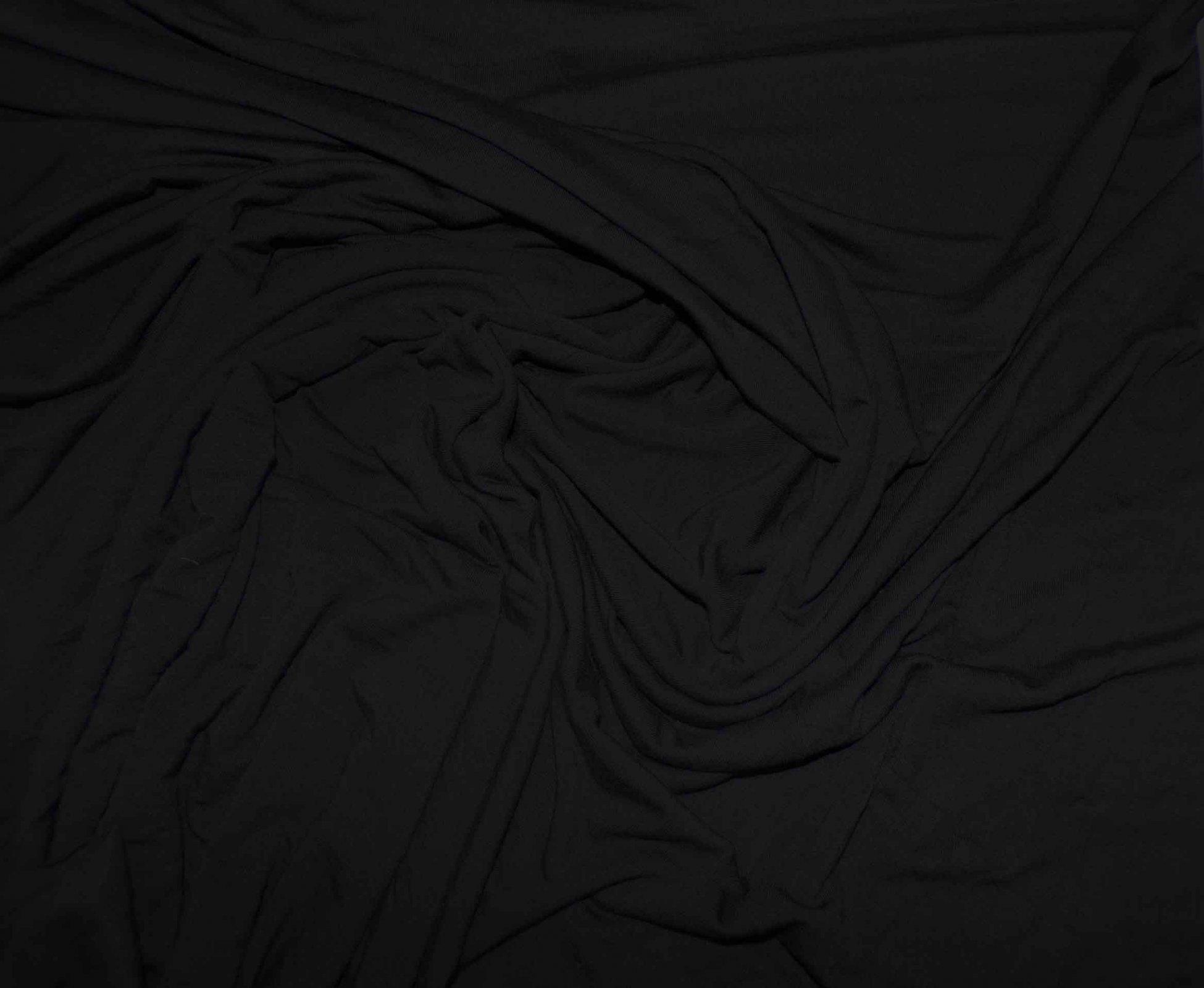 Lightweight Modal Lycra Jersey - Black