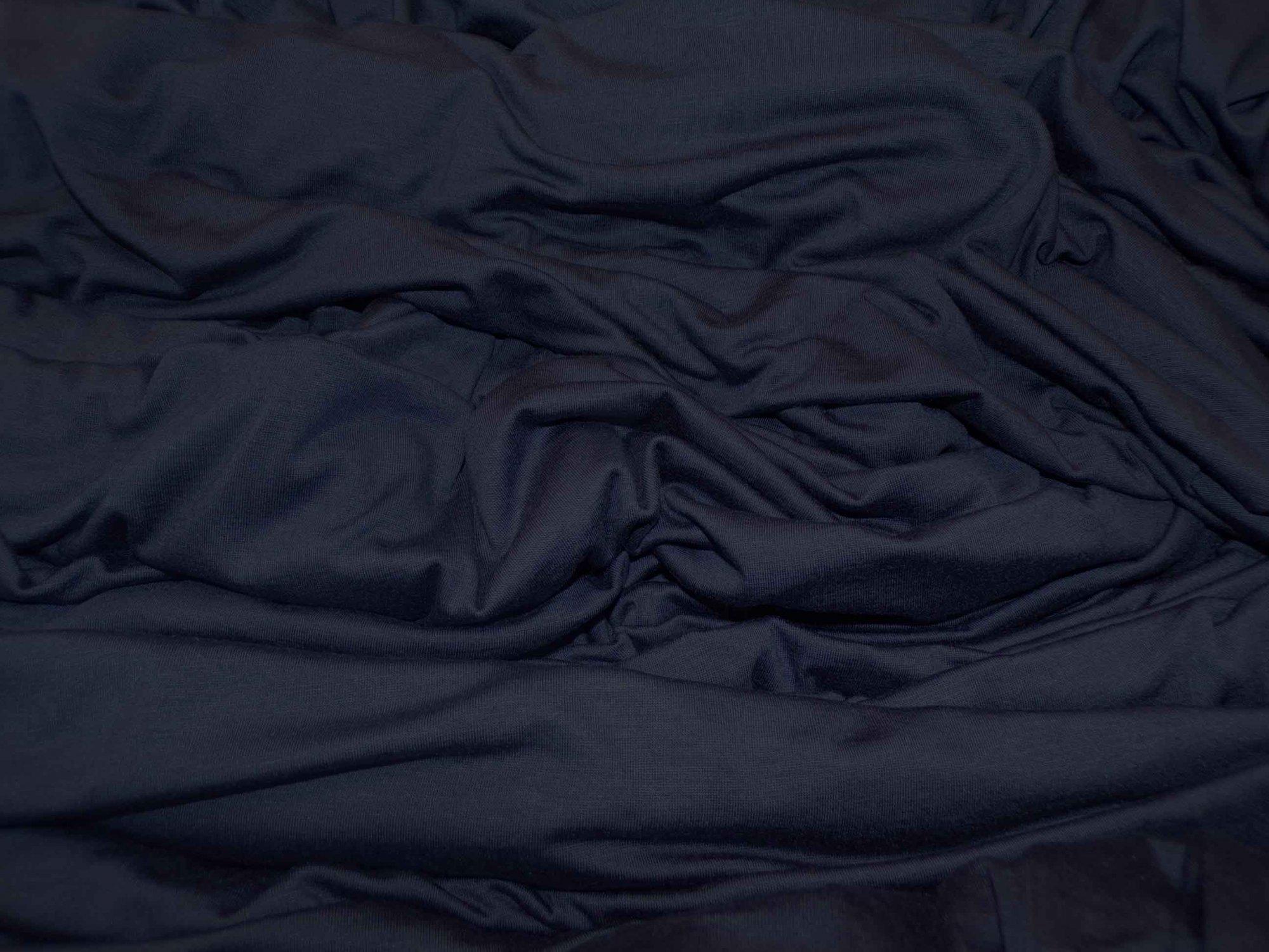 Lightweight Modal Lycra Jersey - Navy Blue