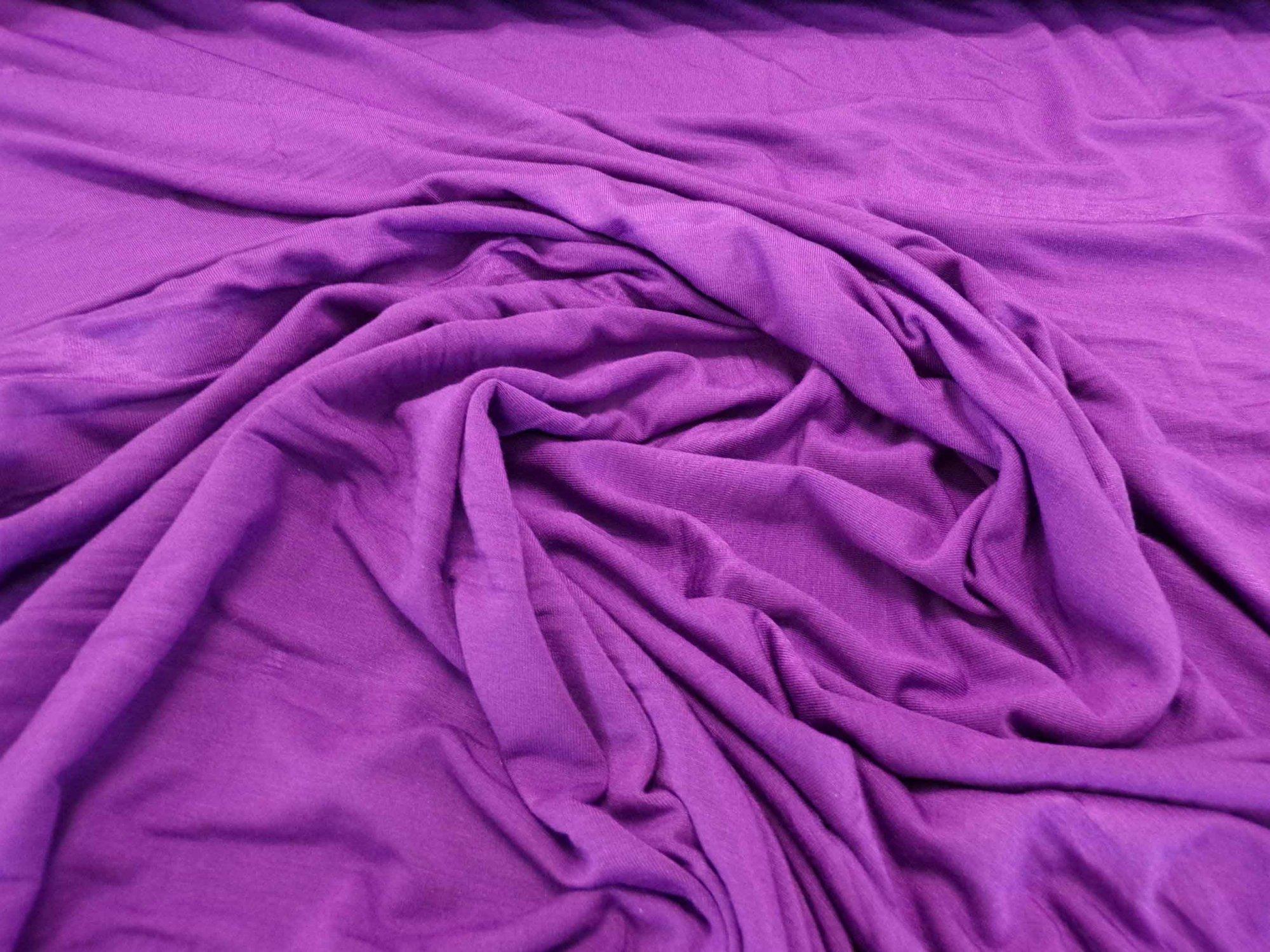 Lightweight Modal Lycra Jersey - Violet