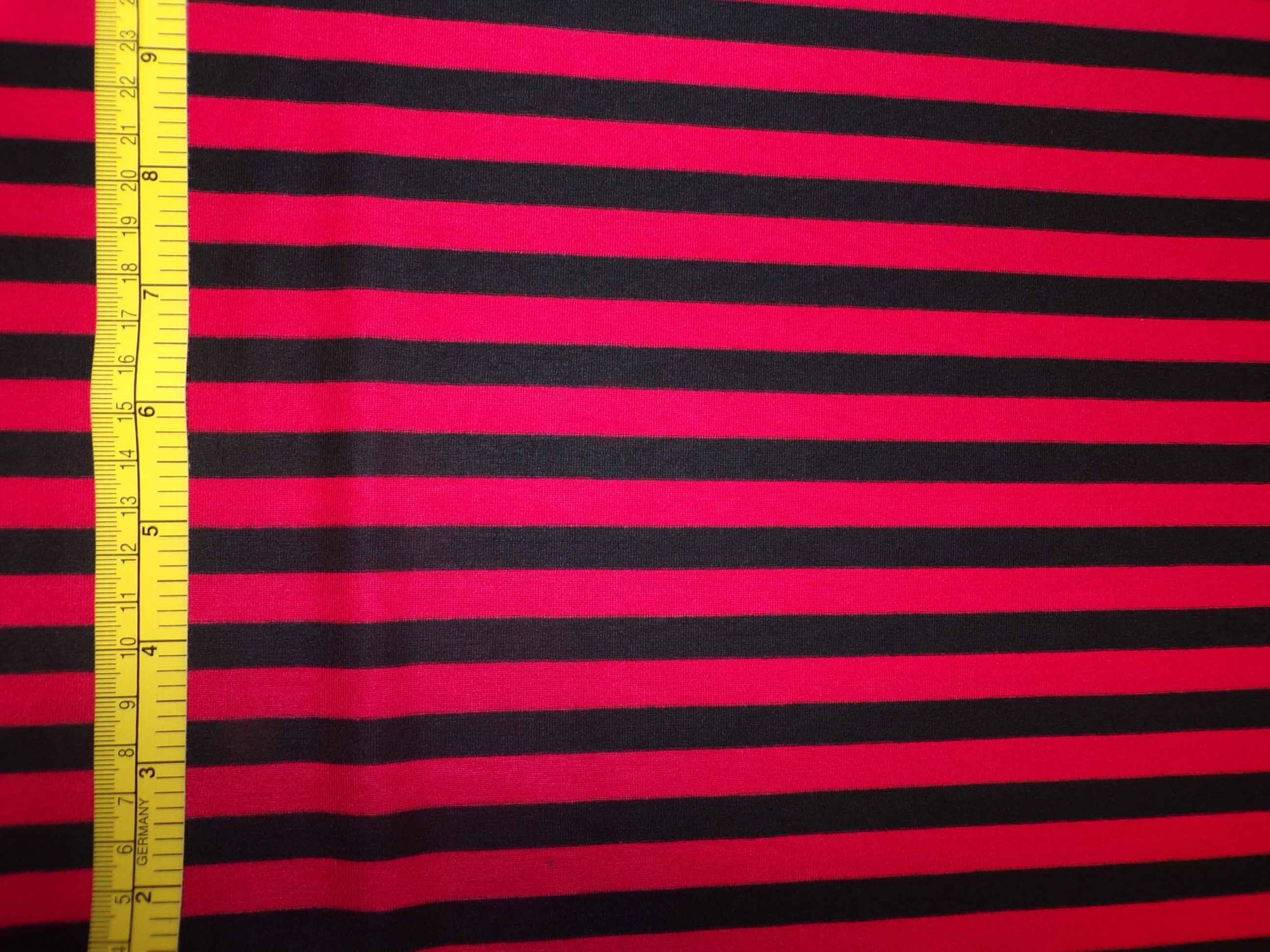 Supima Cotton Lycra Jersey - Red and Black Stripes