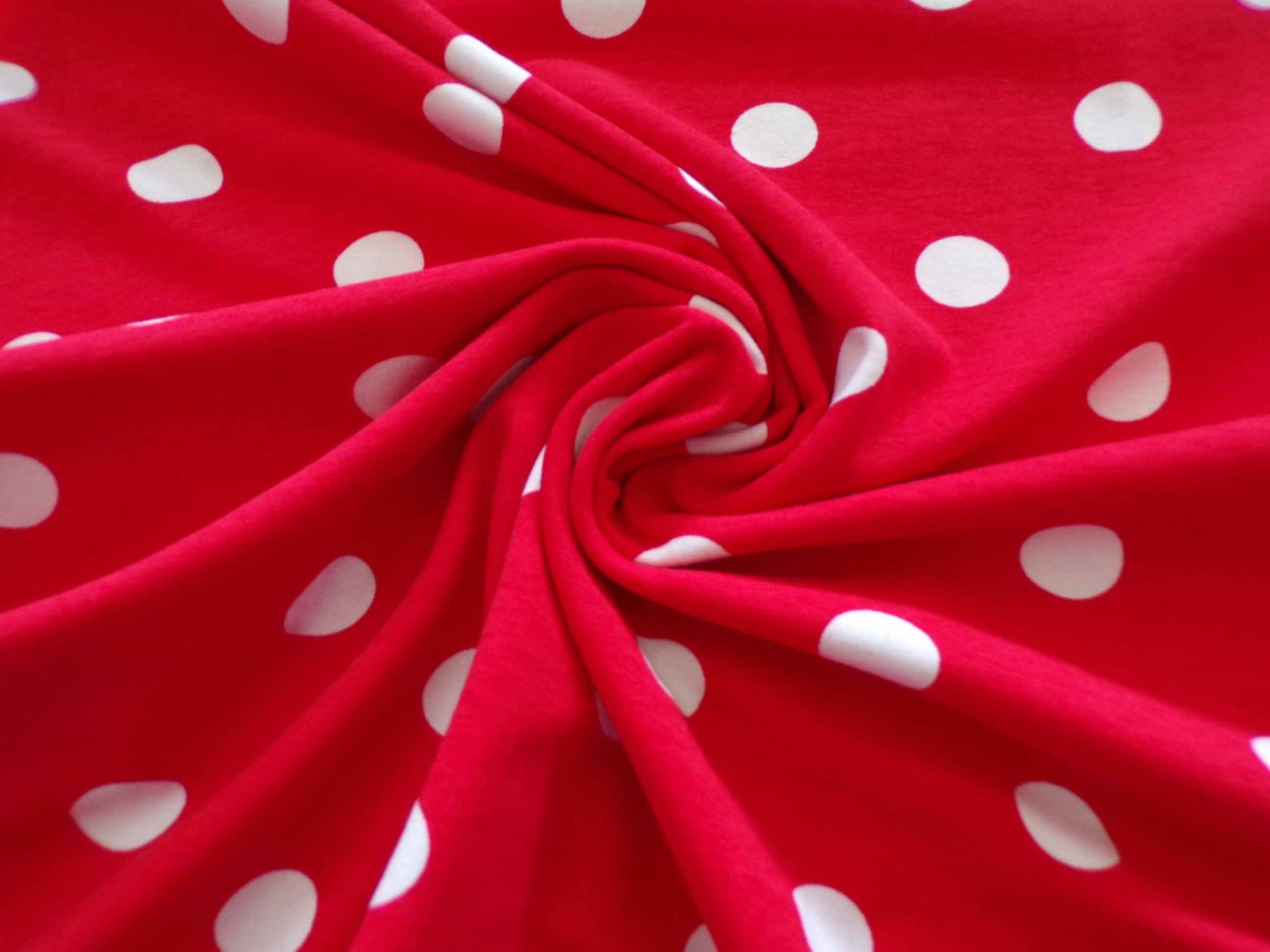 Cotton Lycra Jersey - Minnie Mouse Polka Dots