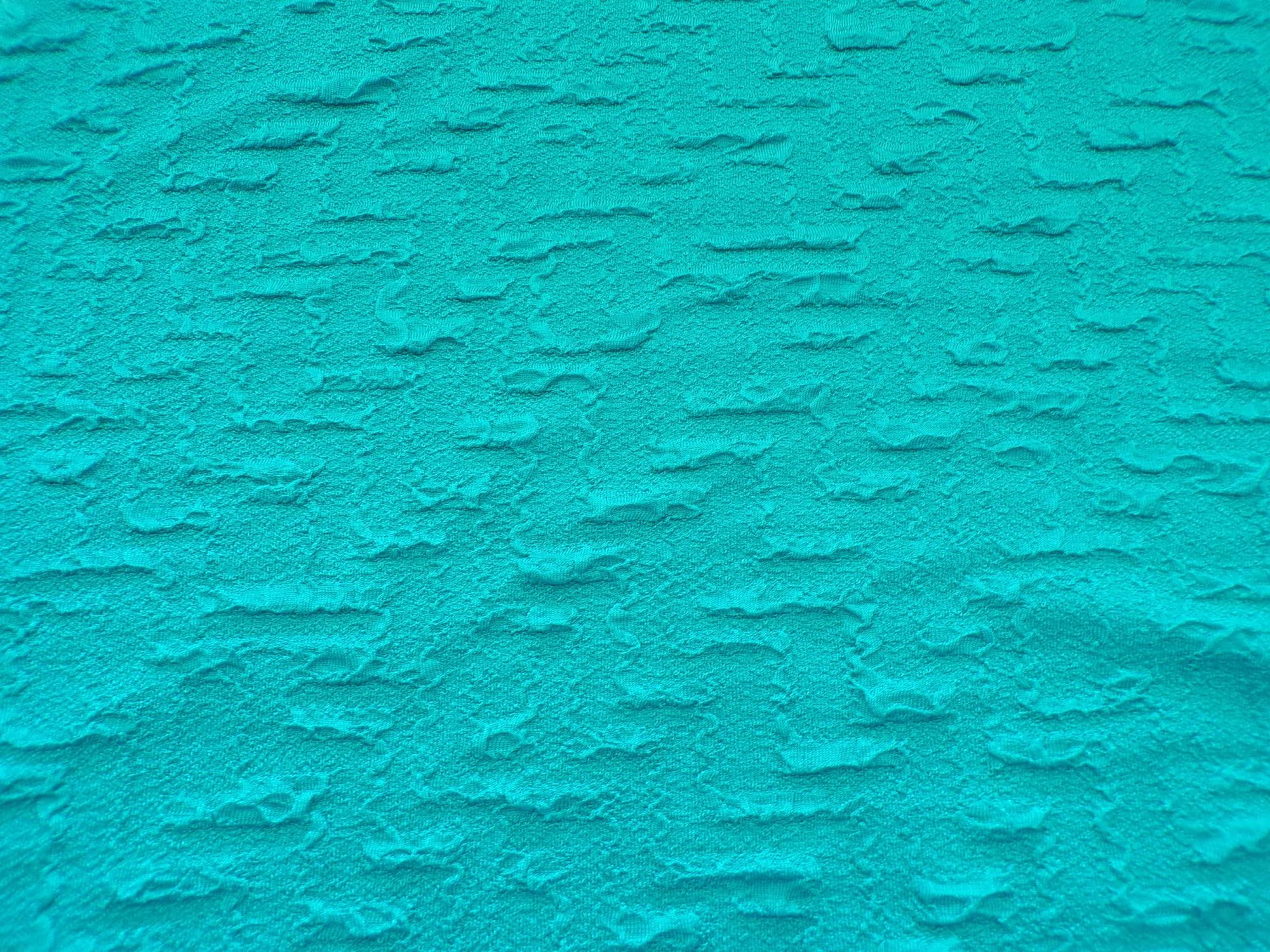 Cloque Knit - Bright Teal Maze