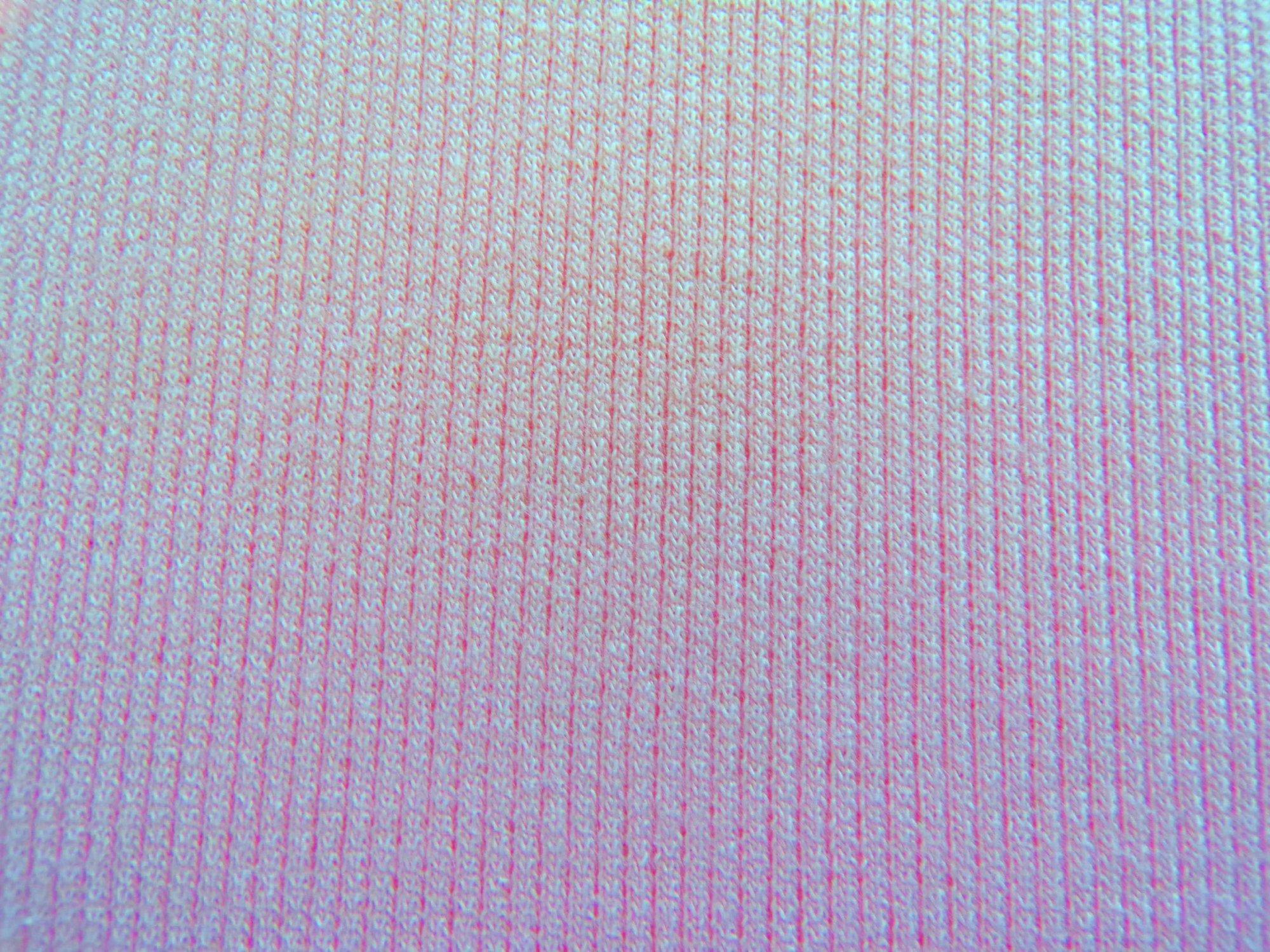 Cotton Lycra Ribbed Knit - Pale Pink