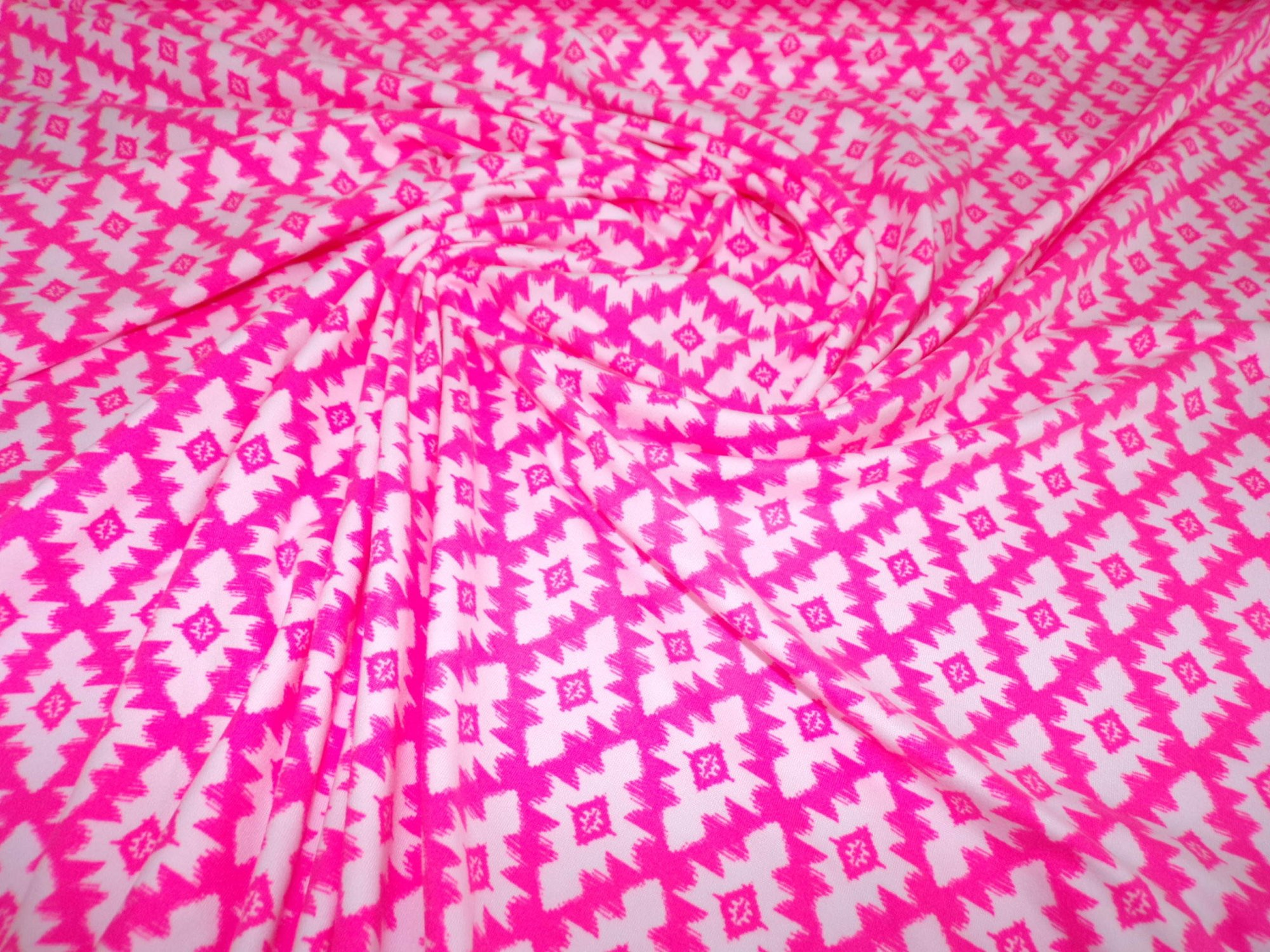 Milana (DBP) - Hot Pink and White Geometric