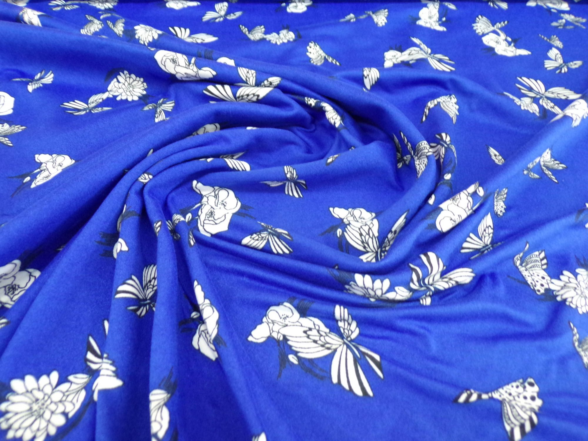 Milana (DBP) - Royal Blue with Butterflies