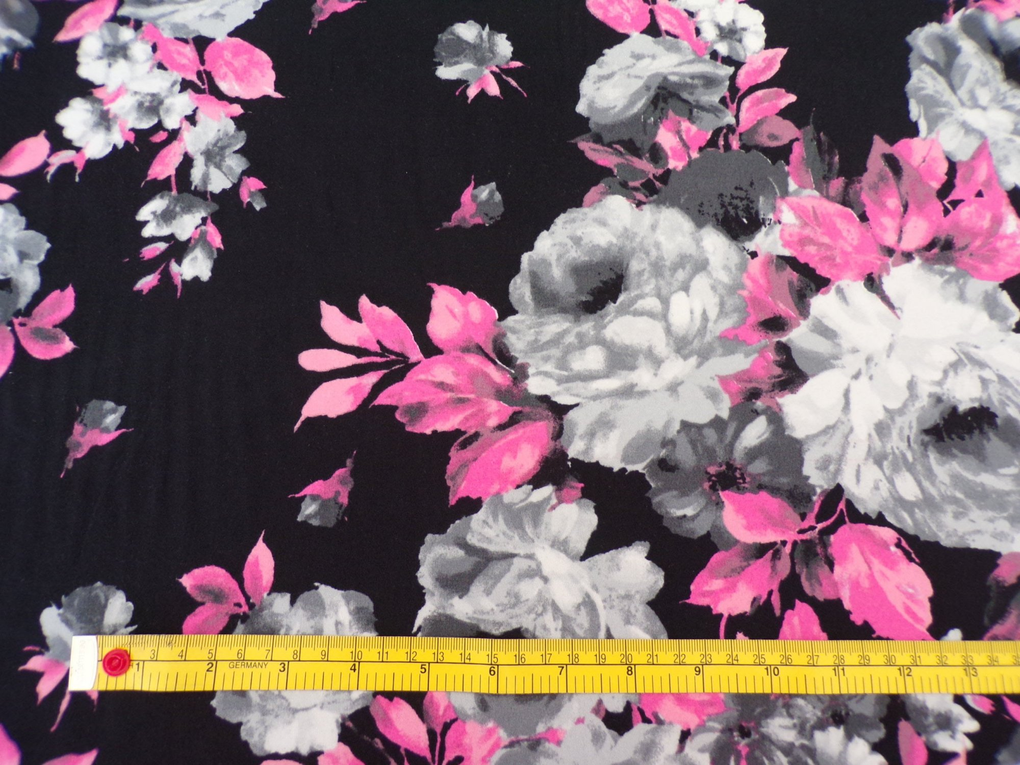 Milana Dpb Black With Pink And Gray Flowers