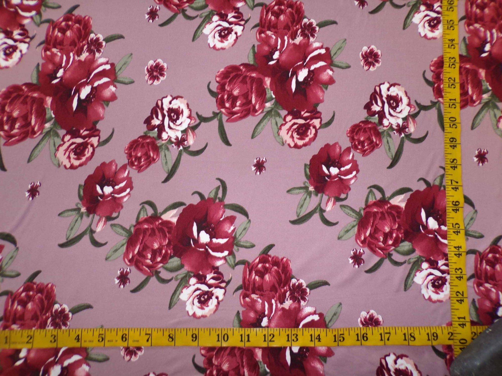 Milana (DBP) - Mauve and Dark Peach Floral