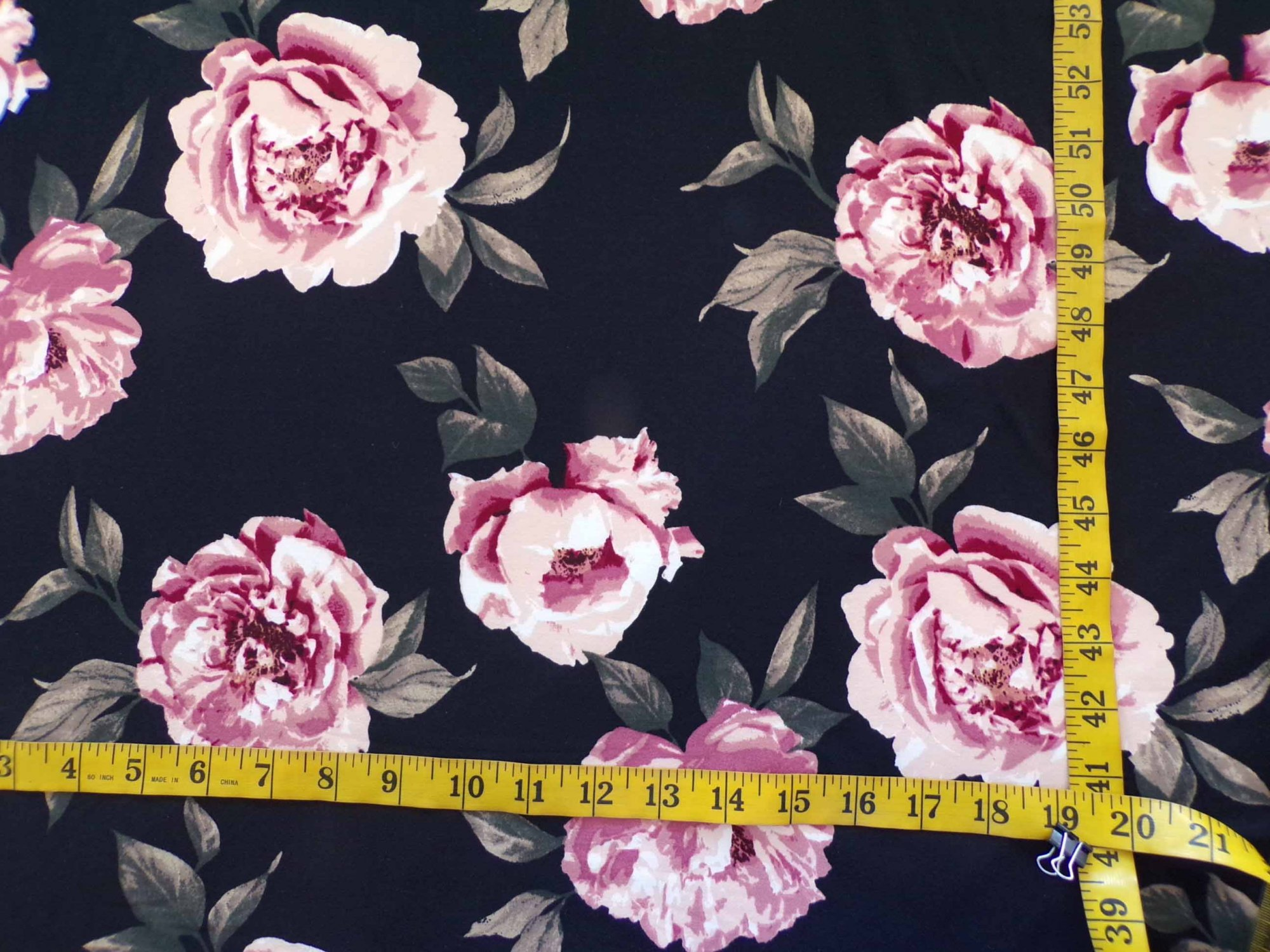 Milana (DBP) - Mauve Floral on Black