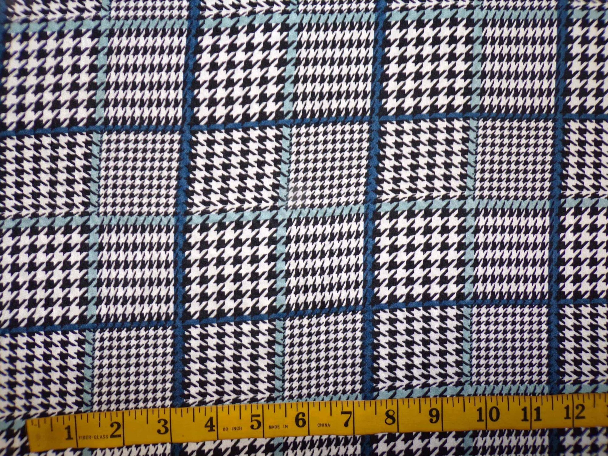 Milana (DBP) - Houndstooth Plaid with Teal