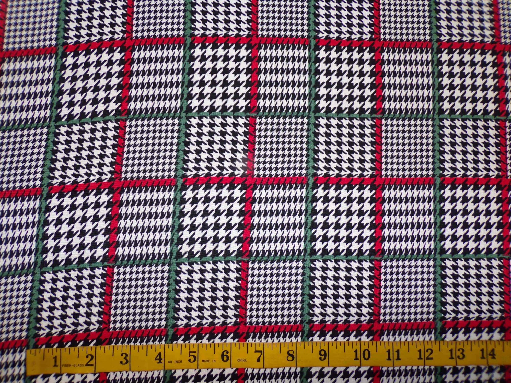 Milana (DBP) - Houndstooth Plaid with Red and Green