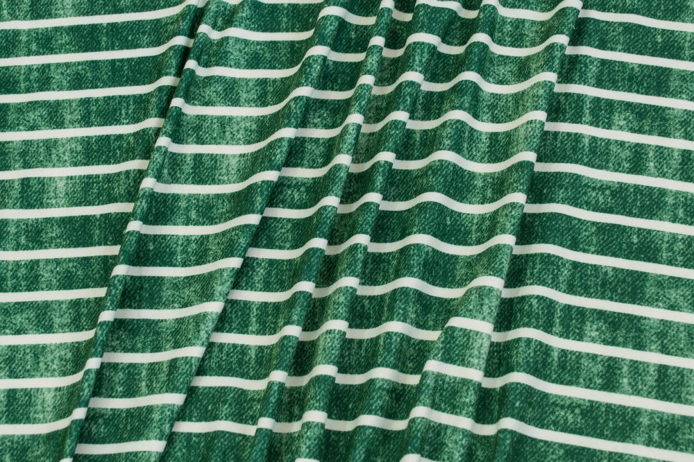 Milana (DBP) - Grunge Stripes - Green and White