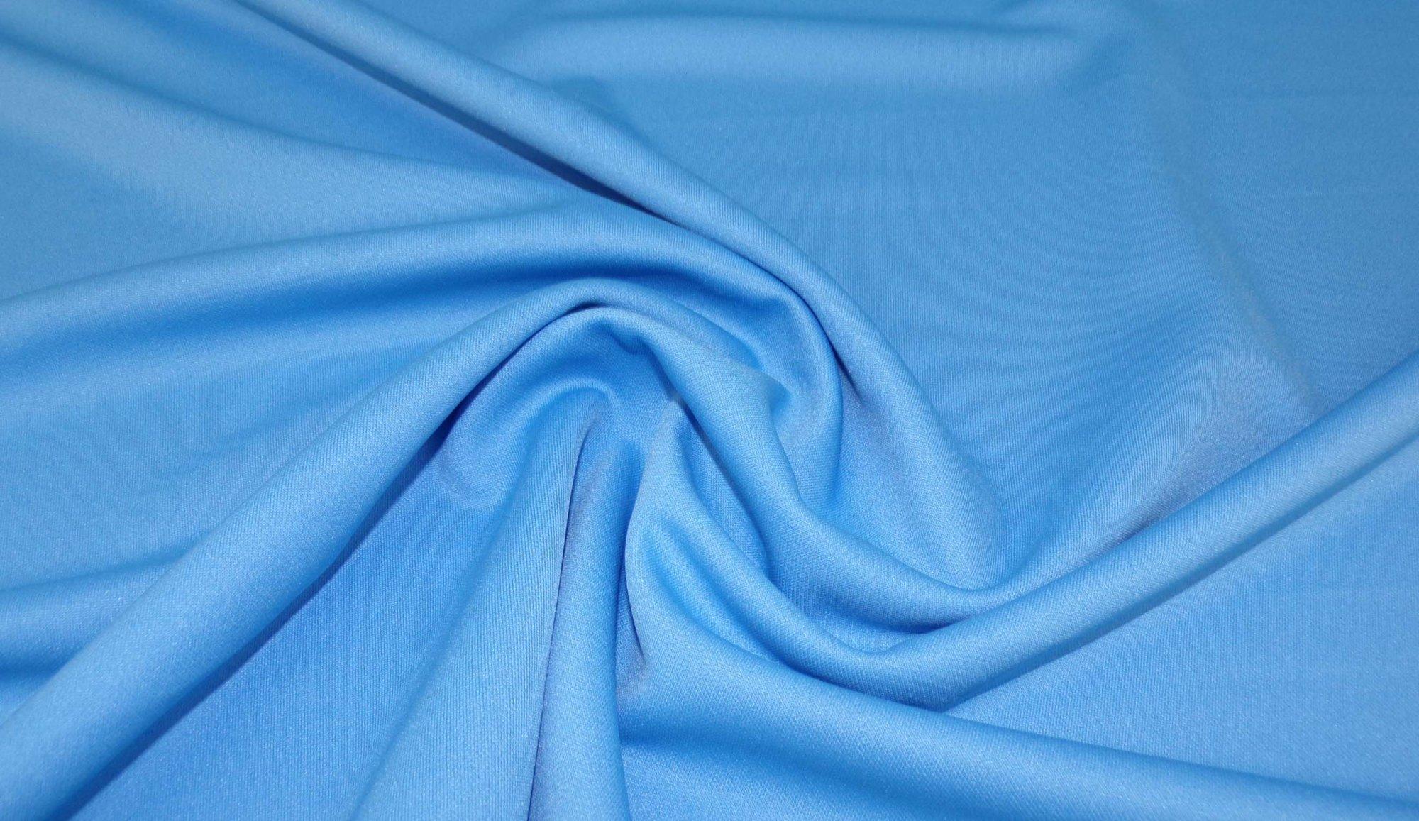 Blue Ponte (Scuba) Knit - 8 oz - 60in
