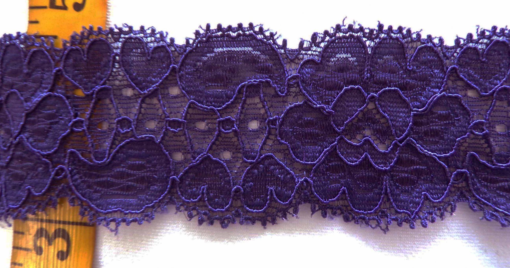 1 5/8 Dark Purple Stretch lace (DPSL341)
