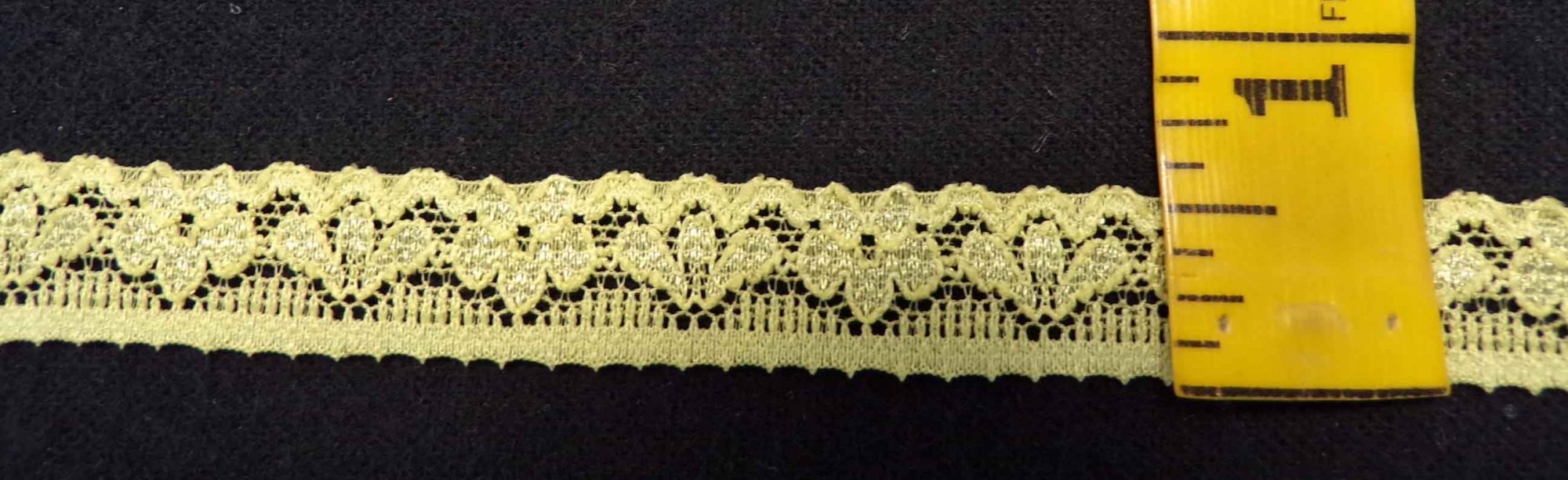 1/2 Light Olive Stretch Lace