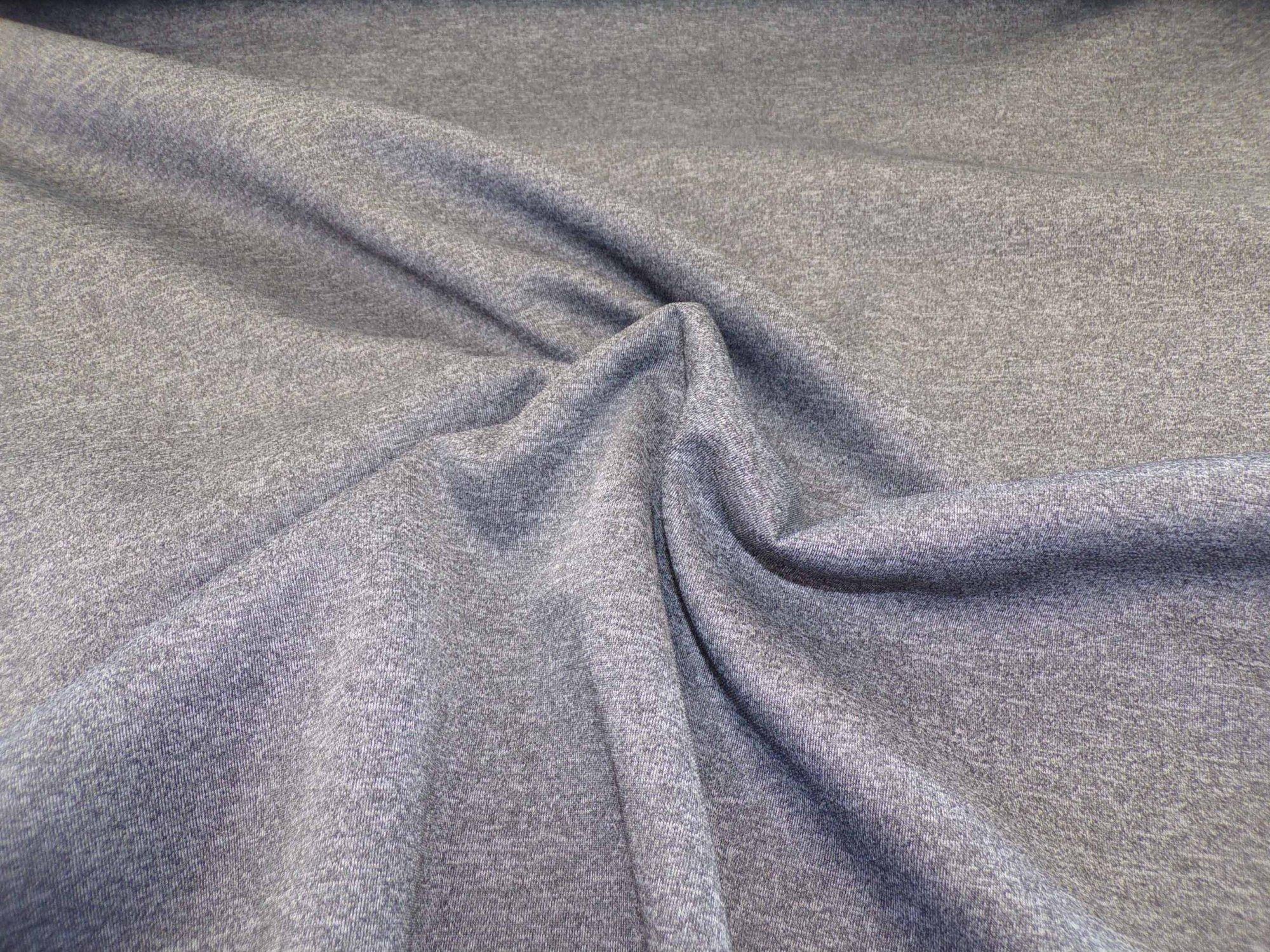 High-Wicking Ponte - Heathered Gray