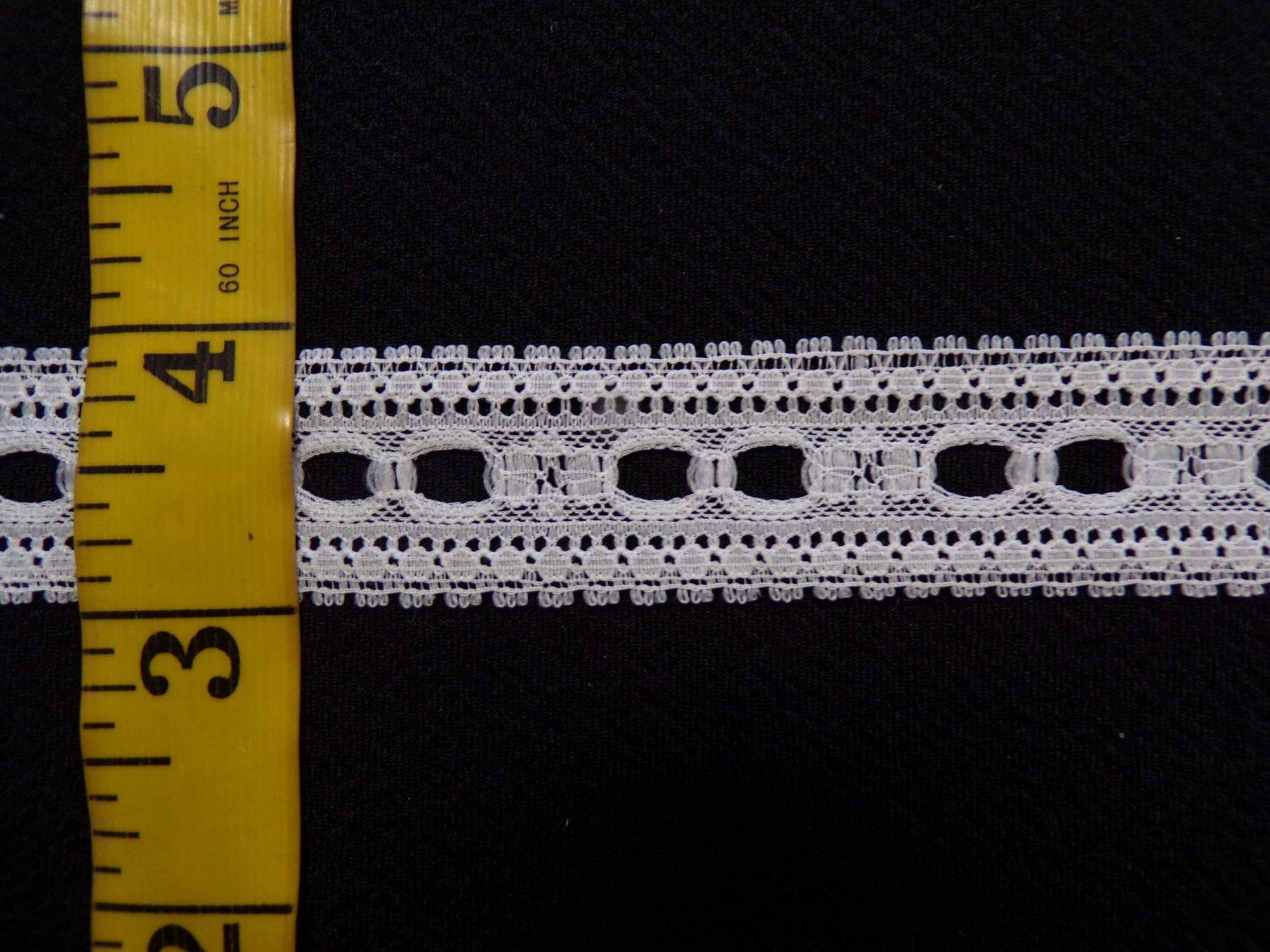 1  Insertion Beading Lace - Raw White