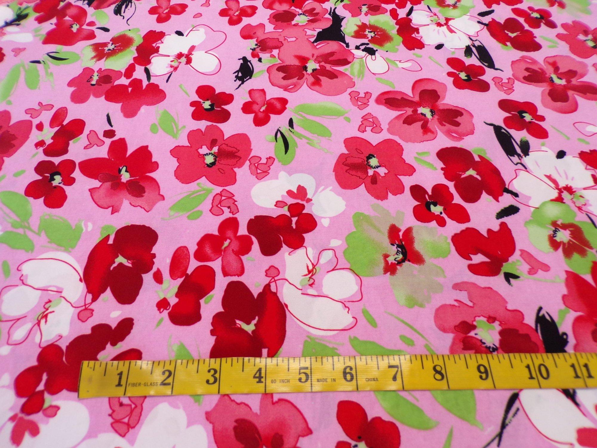 ITY Jersey - Pink Red and Green Floral