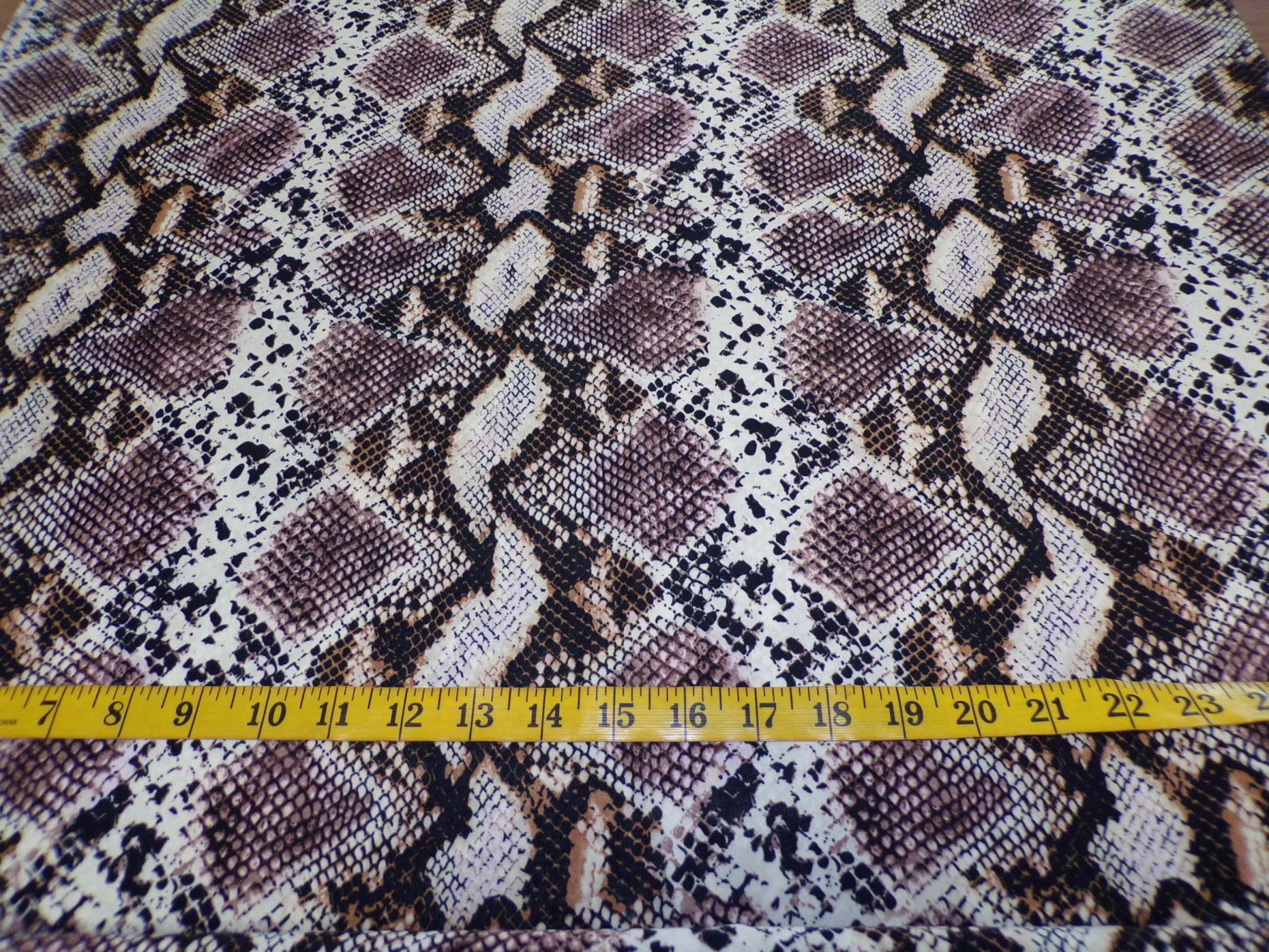 ITY Jersey – Brown and Cream Snakeskin Print