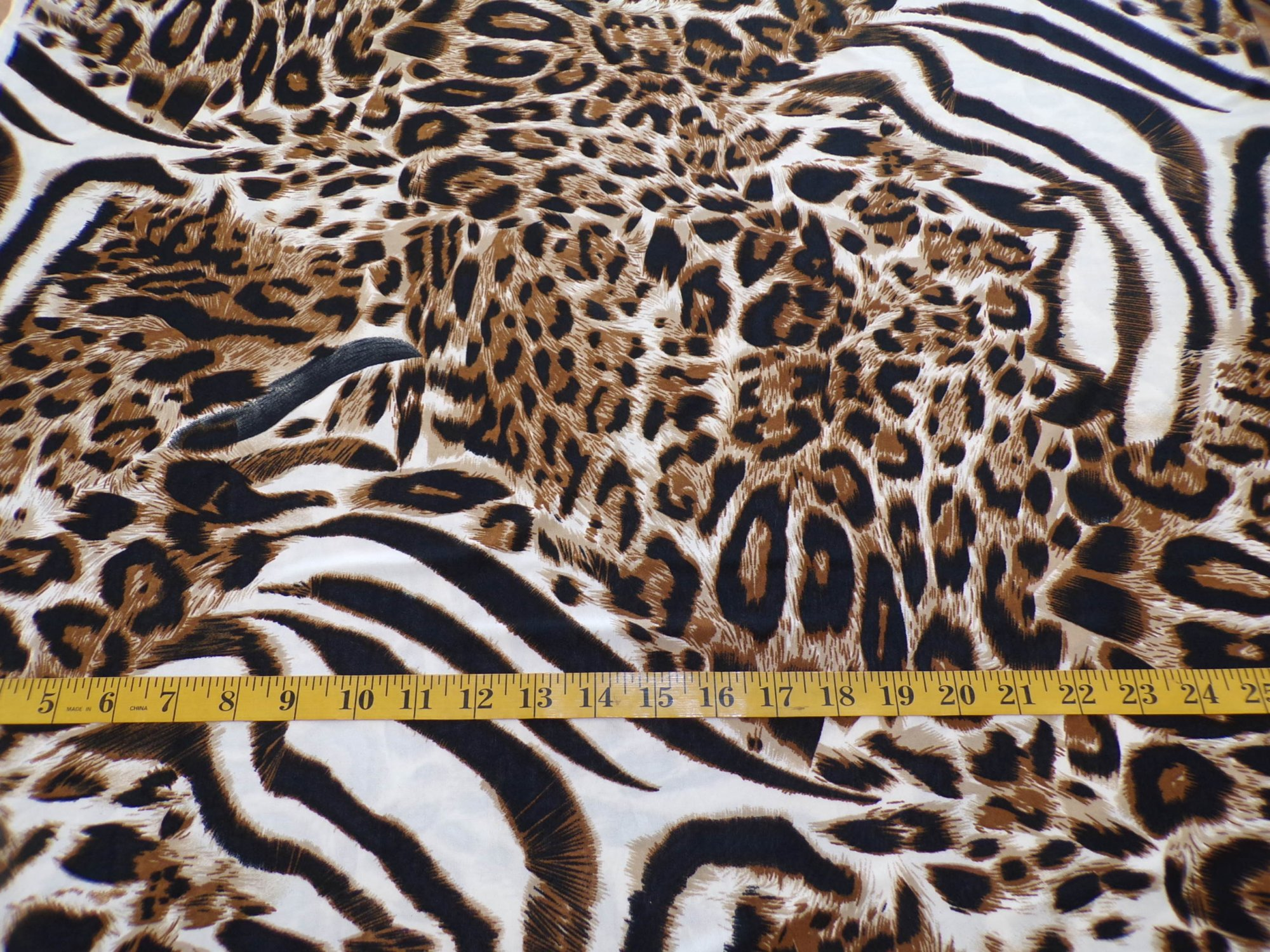 ITY Jersey - Brown and Cream Animal Print - REMNANT ONLY