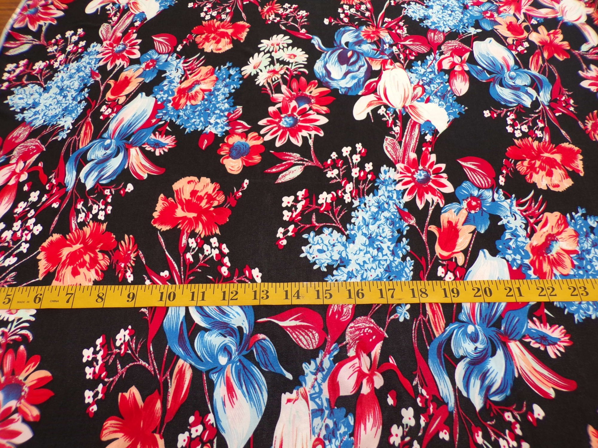 ITY Jersey - Black with Red White and Blue Flowers