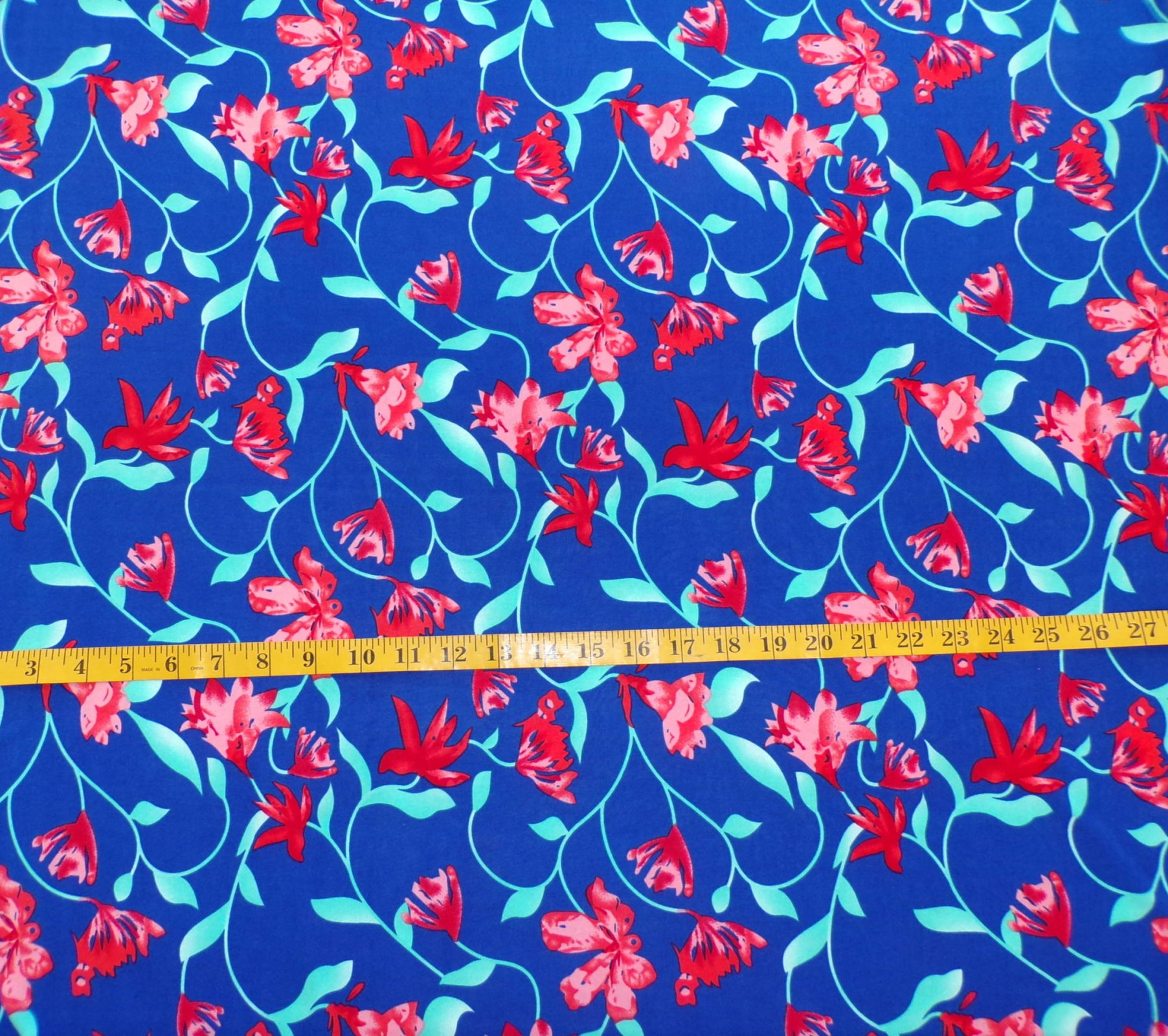 ITY Jersey - Blue Red and Aqua Floral