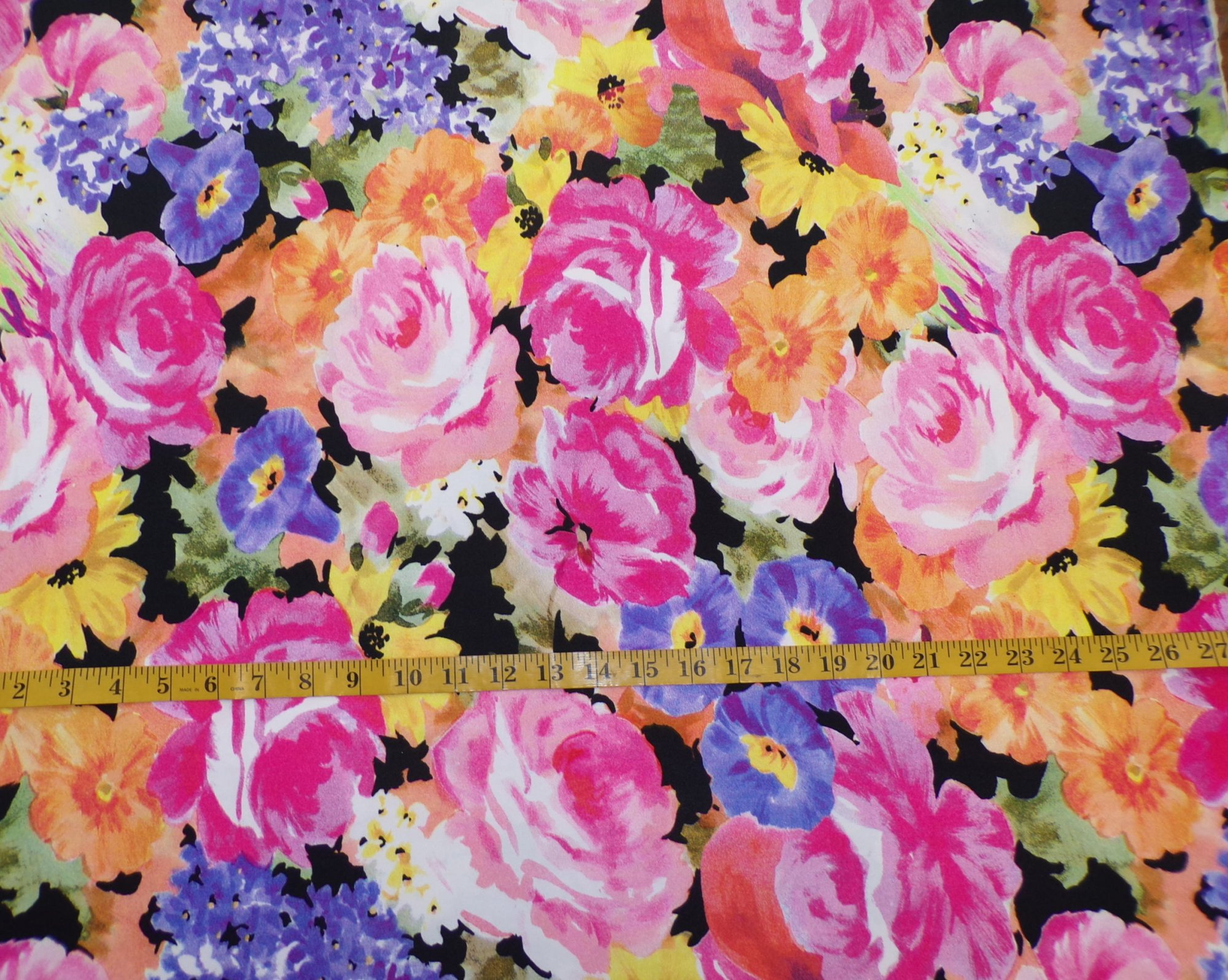 ITY Jersey - Pink and Orange Large Scale Floral