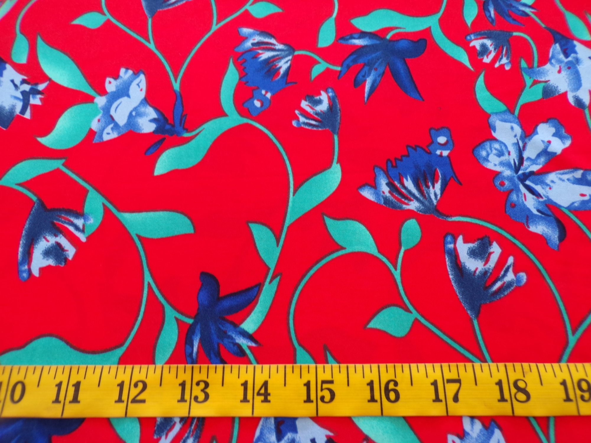 ITY Jersey - Red Blue and Green Floral