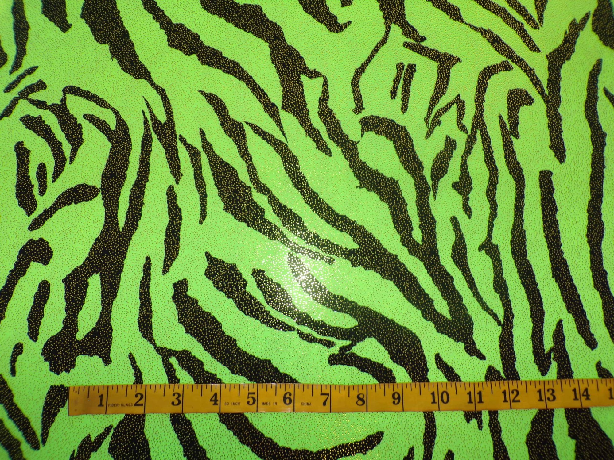ITY Jersey - Neon Green and Black Zebra Stripes