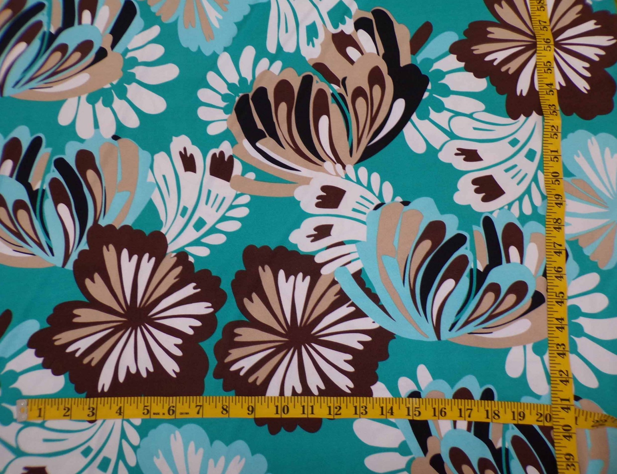 ITY Jersey - Teal and Tan Floral