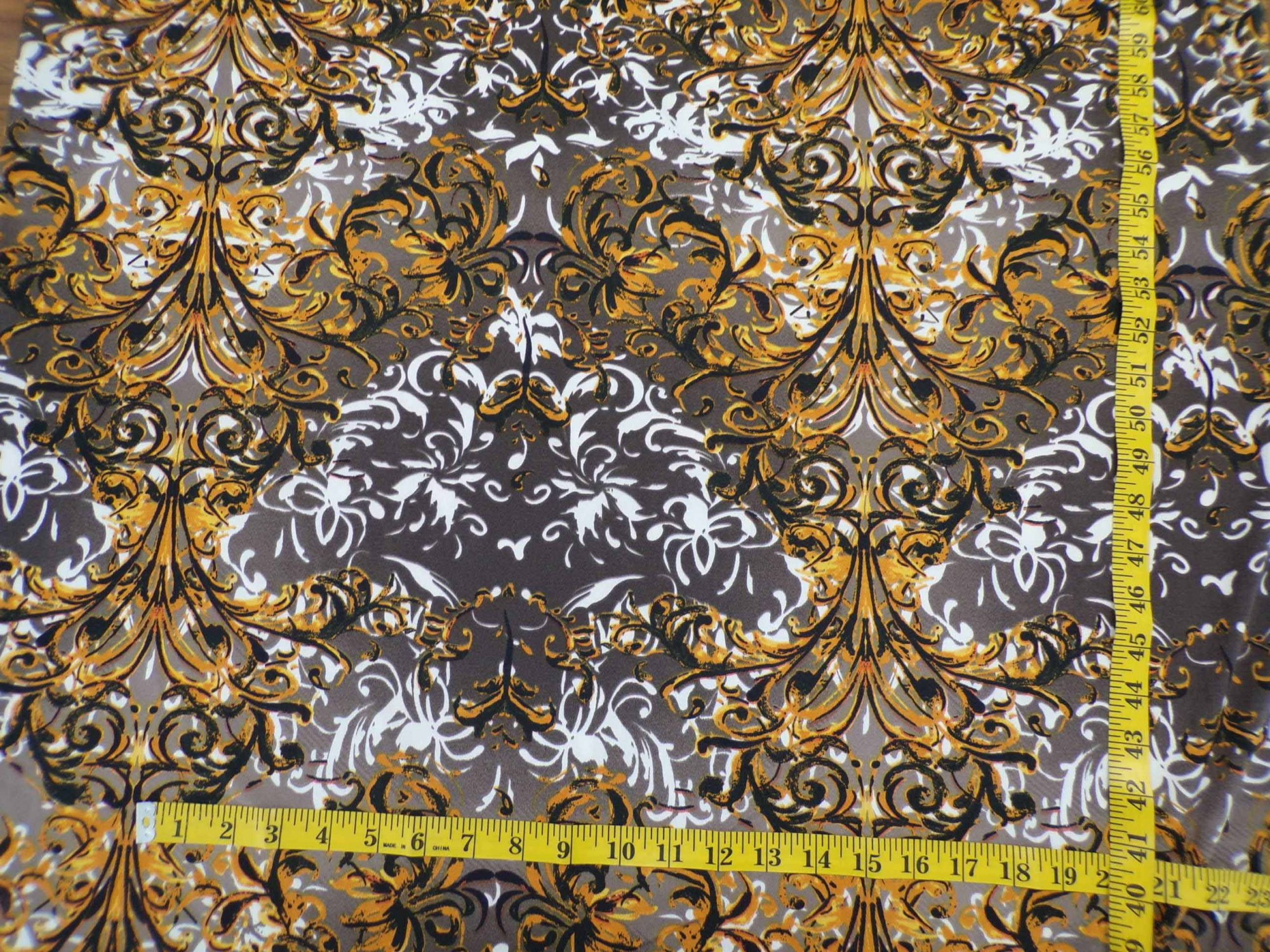 ITY Jersey - Taupe Gold and White Abstract