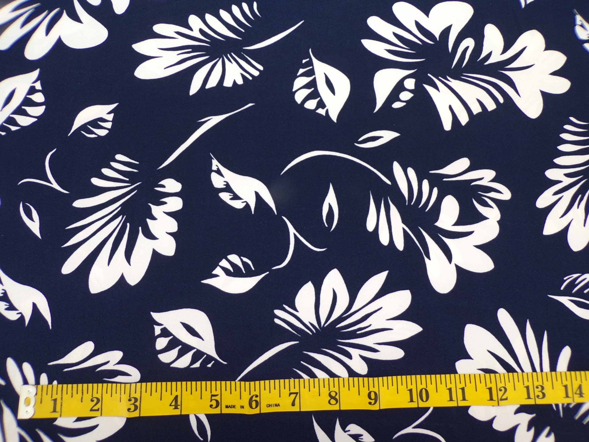 ITY Jersey - Navy with Raw White Leaves