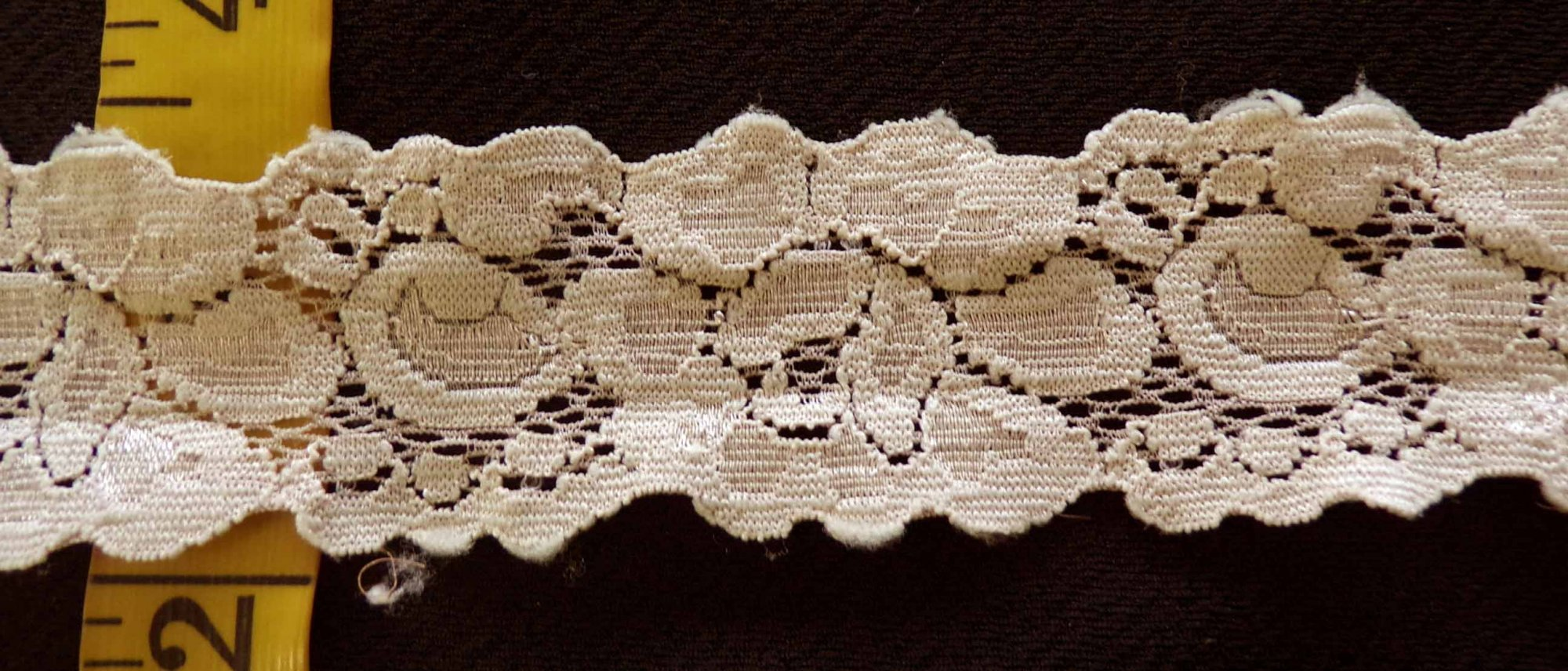 1 1/2 Khaki Stretch lace (KHSL332)
