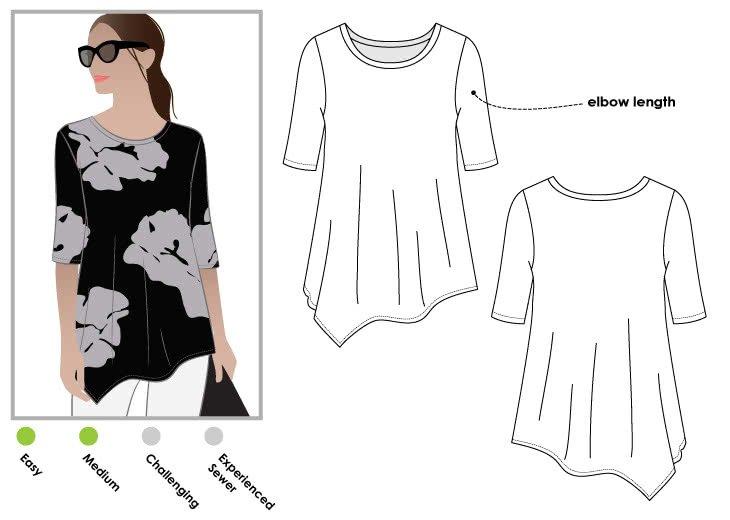 Style Arc Kim Swing Top Pattern
