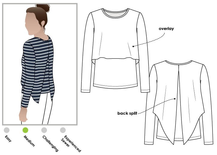 Style Arc Kylie Knit Top Pattern
