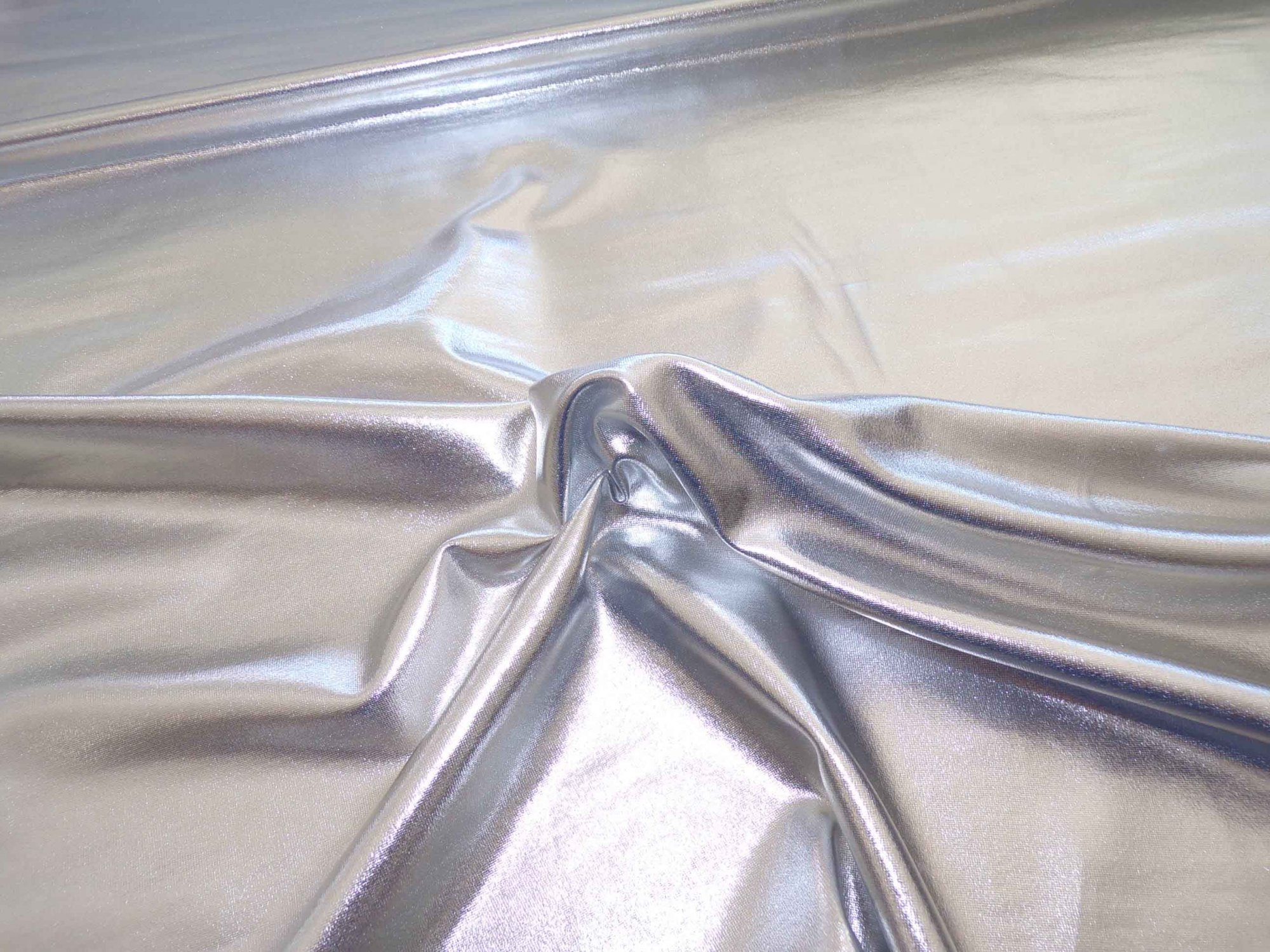 Stretch Liquid Lame - Metallic Silver