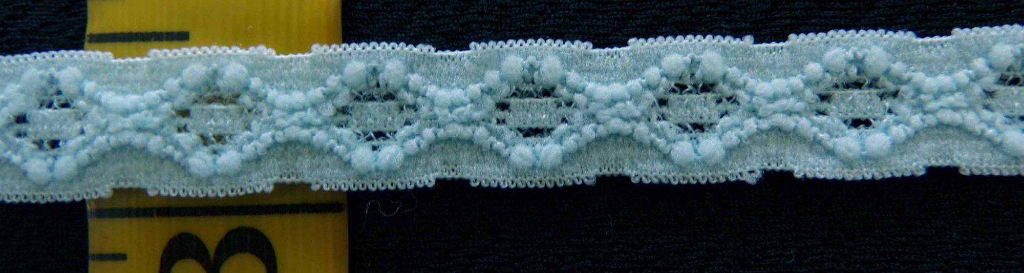3/8 Light Blue stretch lace (BLSL038)
