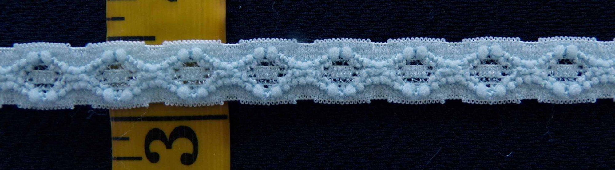 3/8 Light Blue stretch lace (LBSL0382)