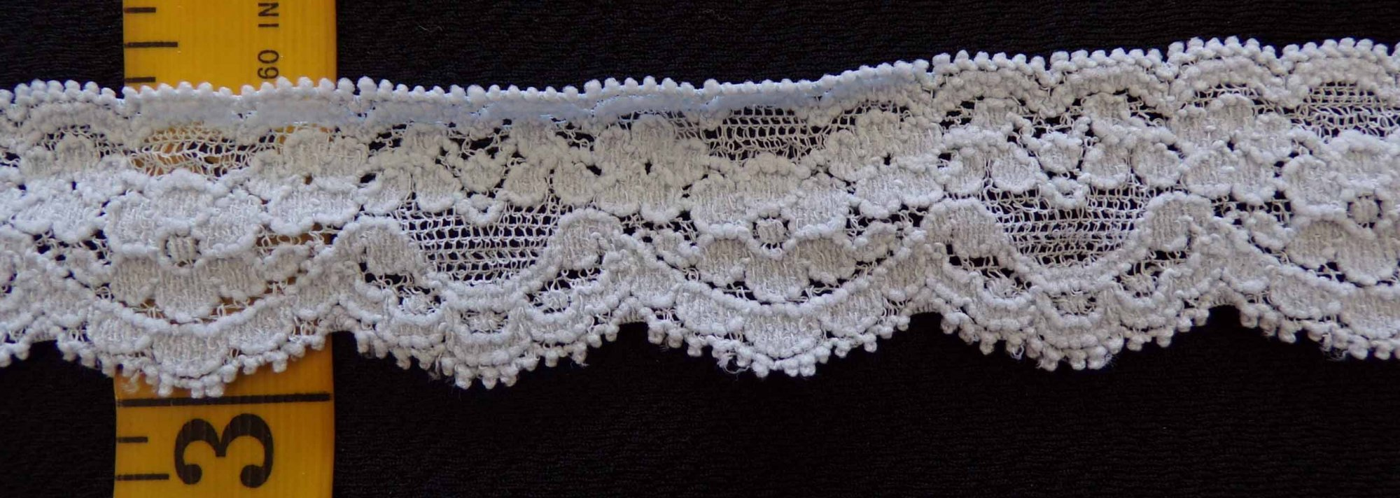 1 1/8 Light Blue stretch lace (LBSL118)