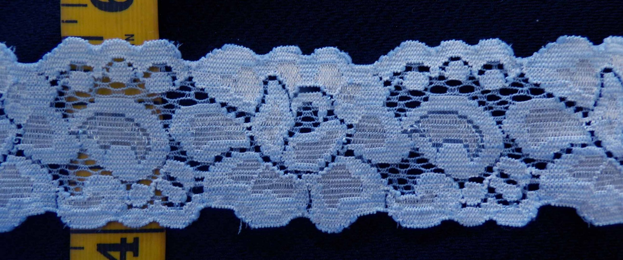 1 1/2 Light Blue stretch lace (LBSL150)