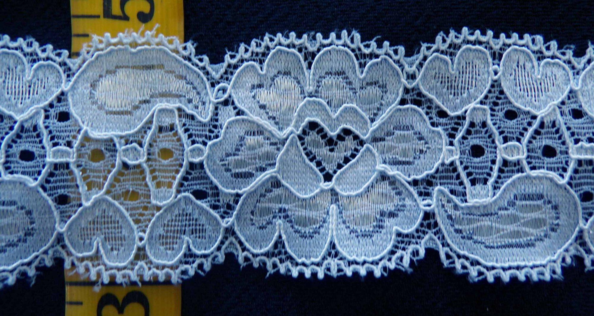 1 1/2 Light Blue stretch lace (LBSL151)